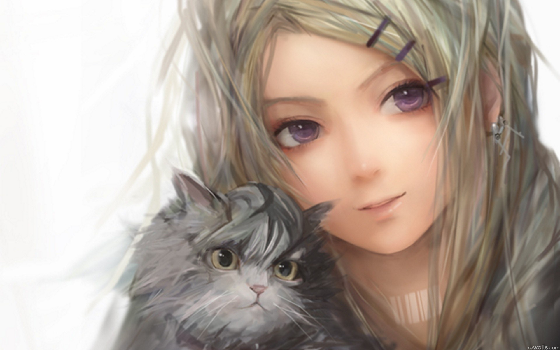 девушка котенок лицо взгляд  № 3597603 бесплатно