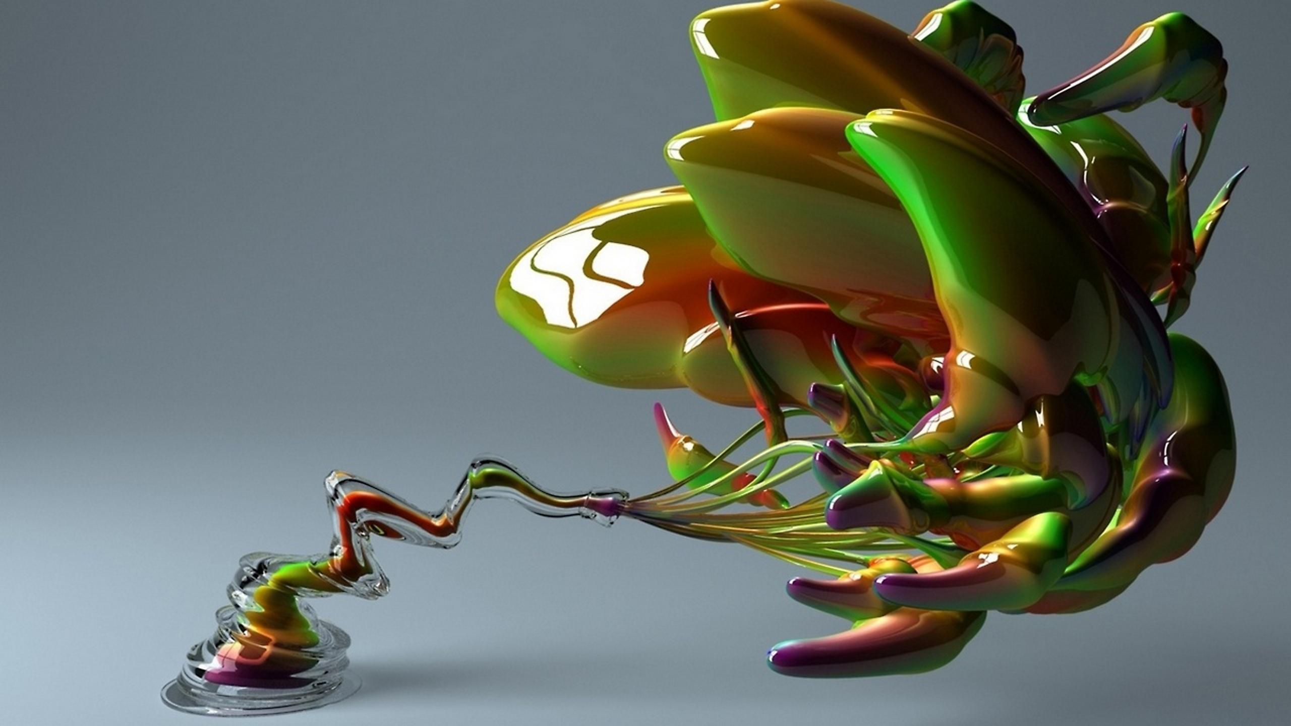 графика цветы абстракция 3D бесплатно