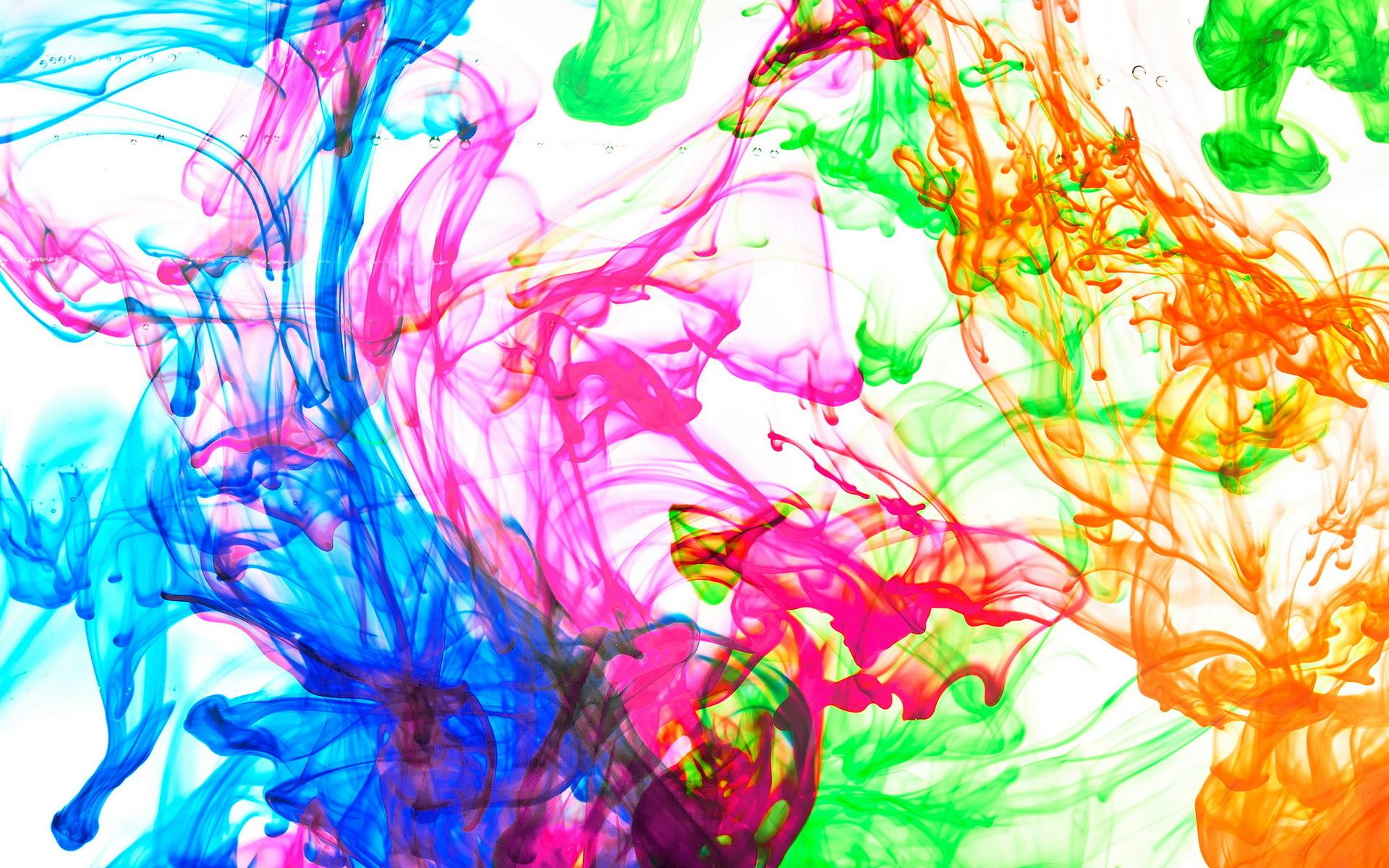 Брызги красок обои на рабочий стол