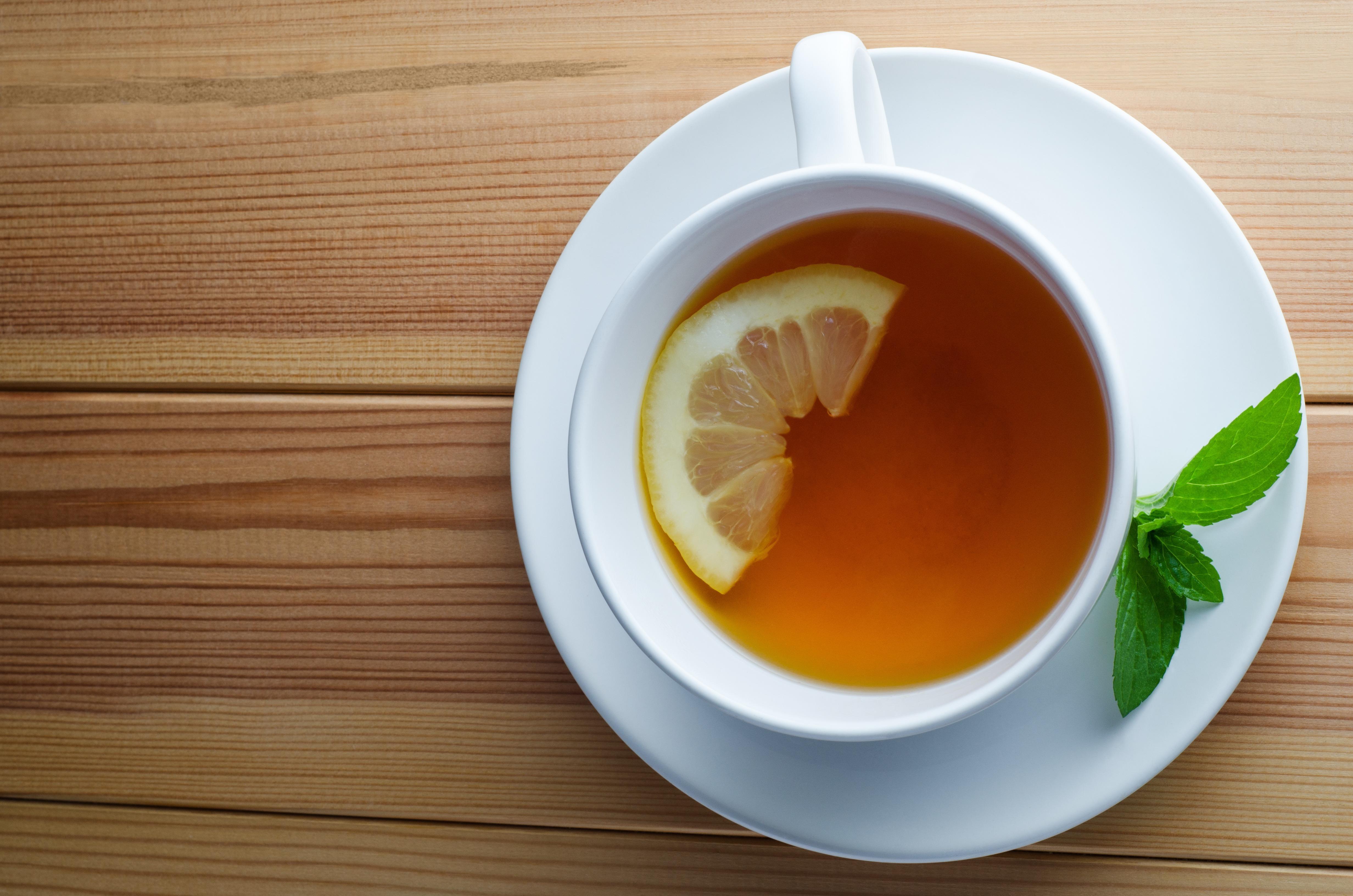 Обои для рабочего стола чай с лимоном
