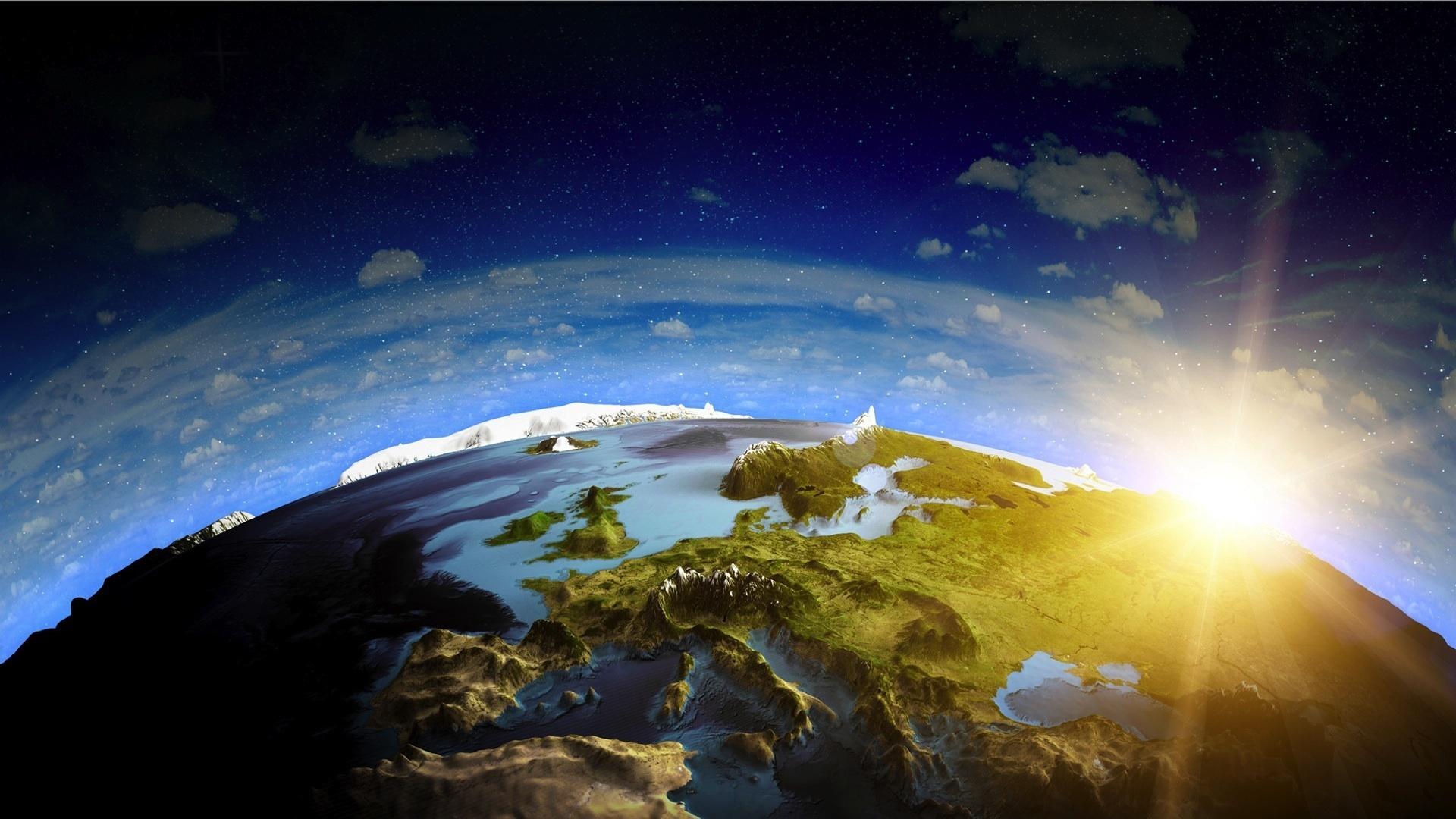 Обои планета земля тучи картинки на рабочий стол на тему Космос — скачать без смс
