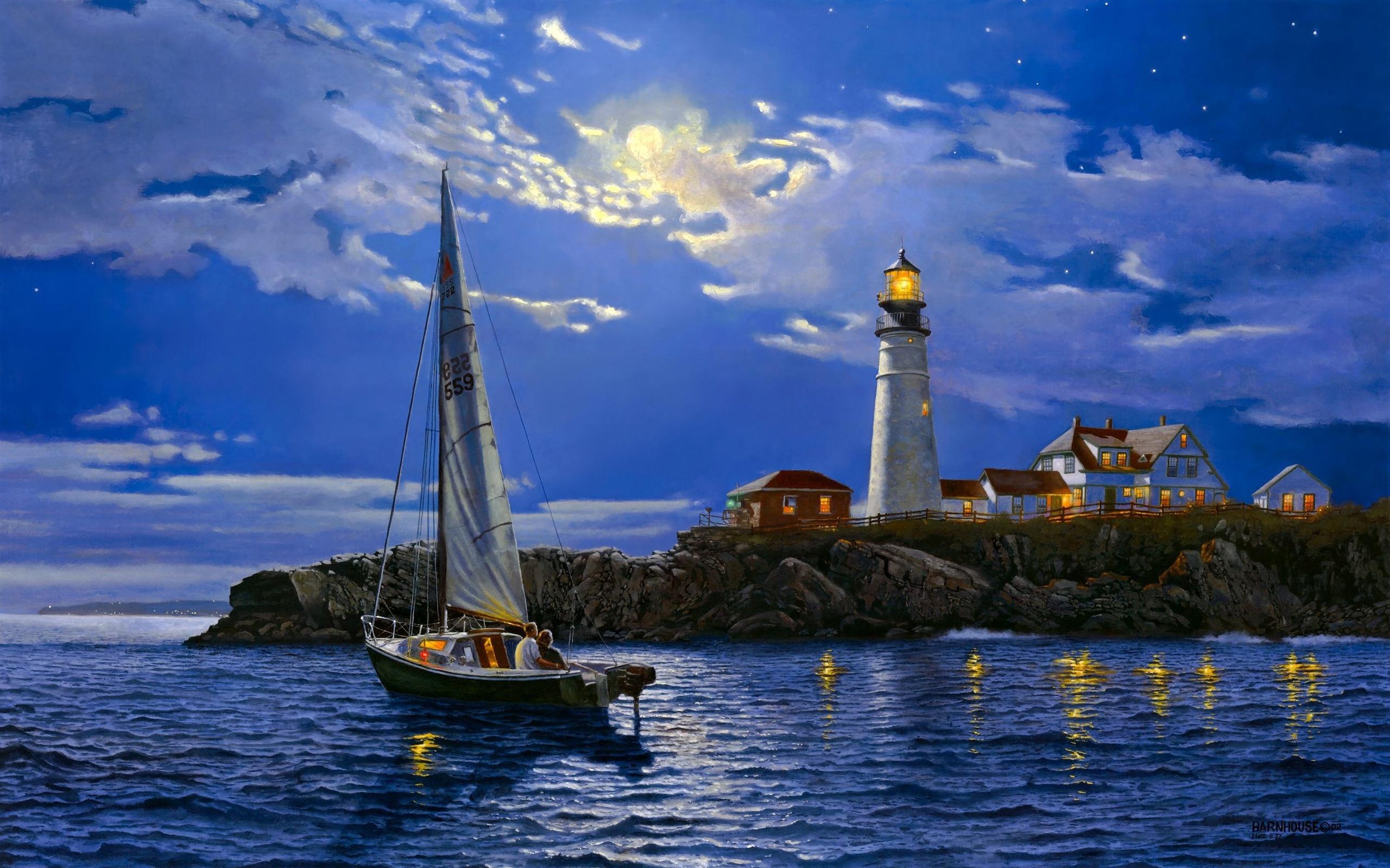 Открытки с морем и яхтами, открытки