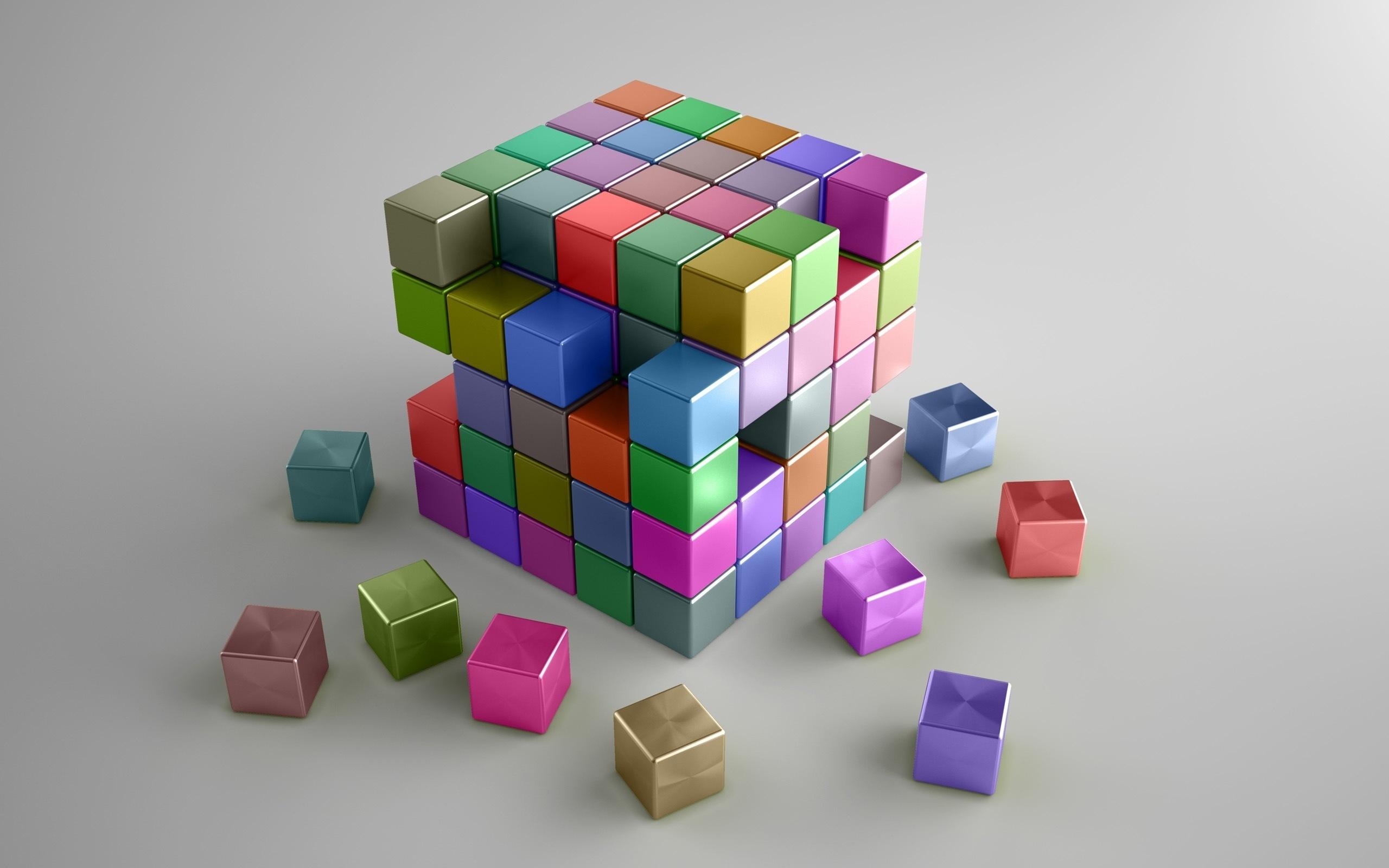 графика 3D кубы цветы graphics Cuba flowers  № 3739393 бесплатно