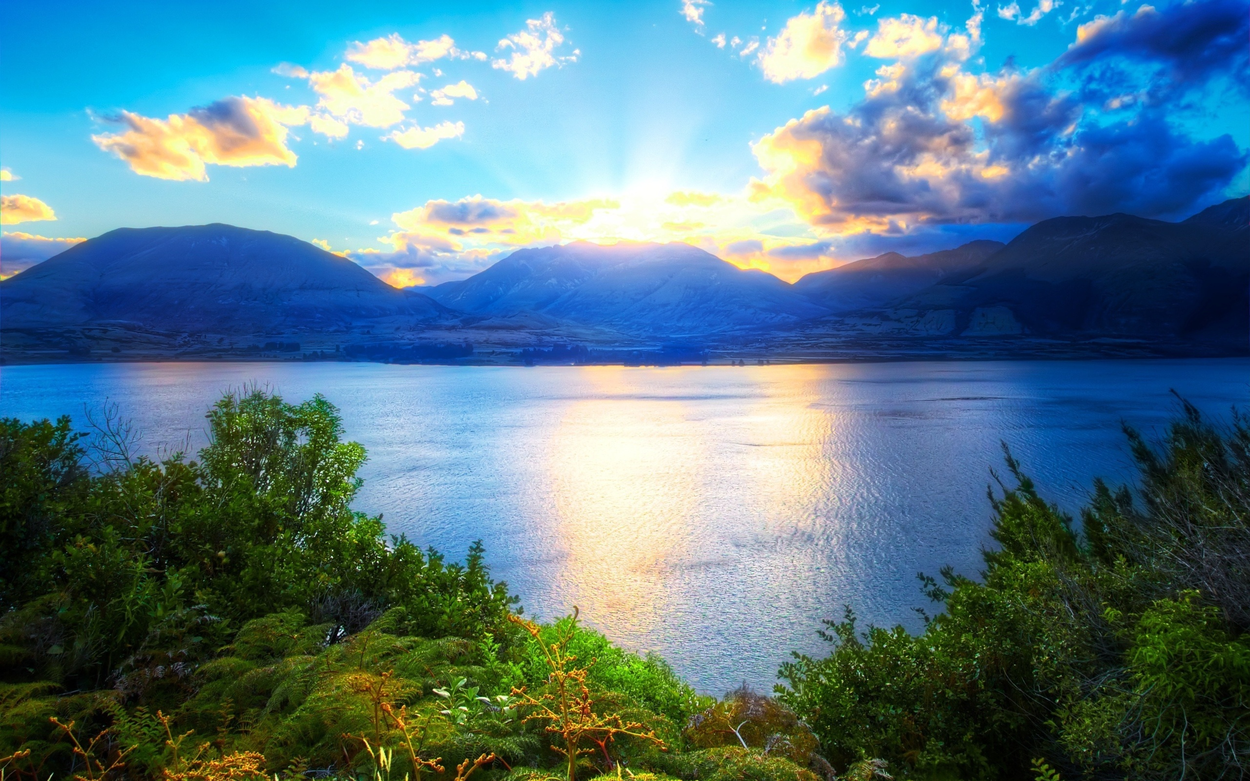 природа горы облака озеро небо облака загрузить