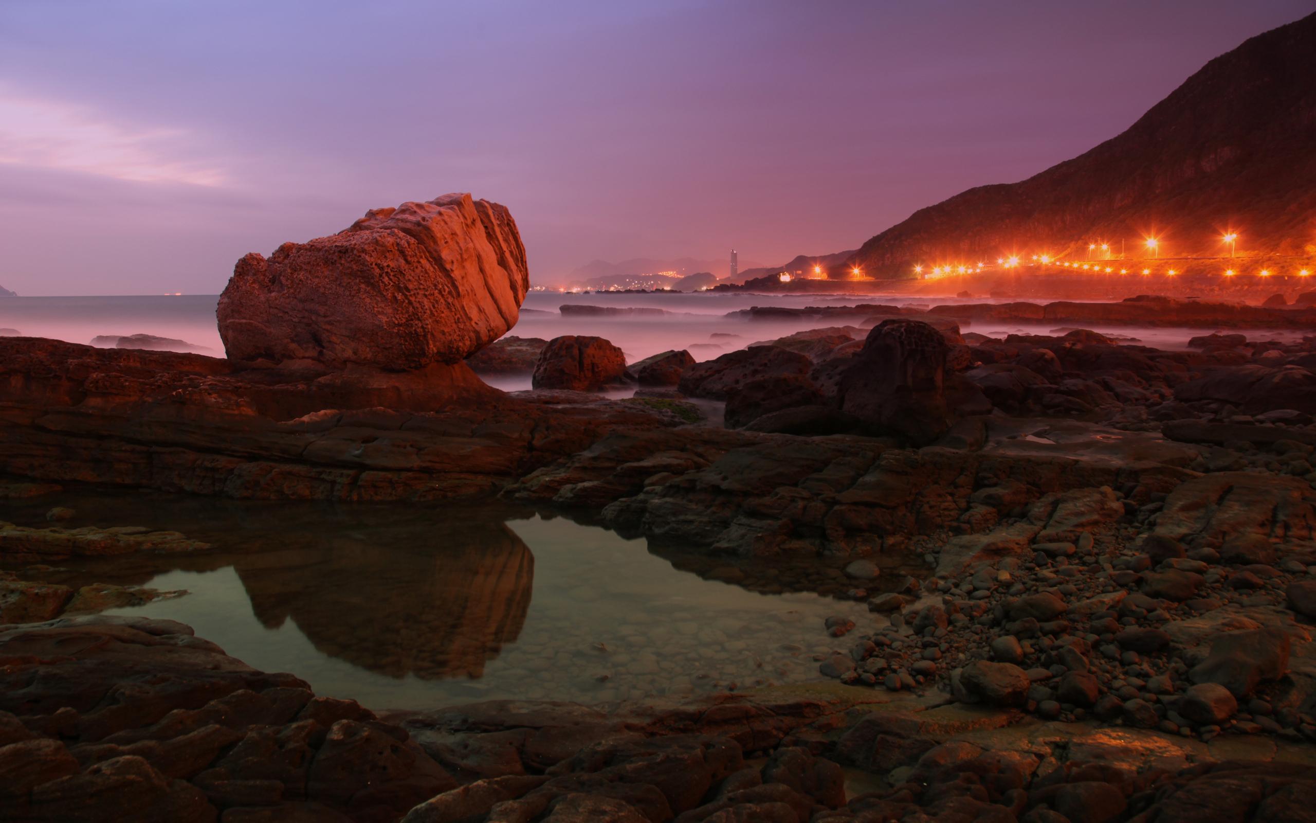 закат море горы скалы загрузить