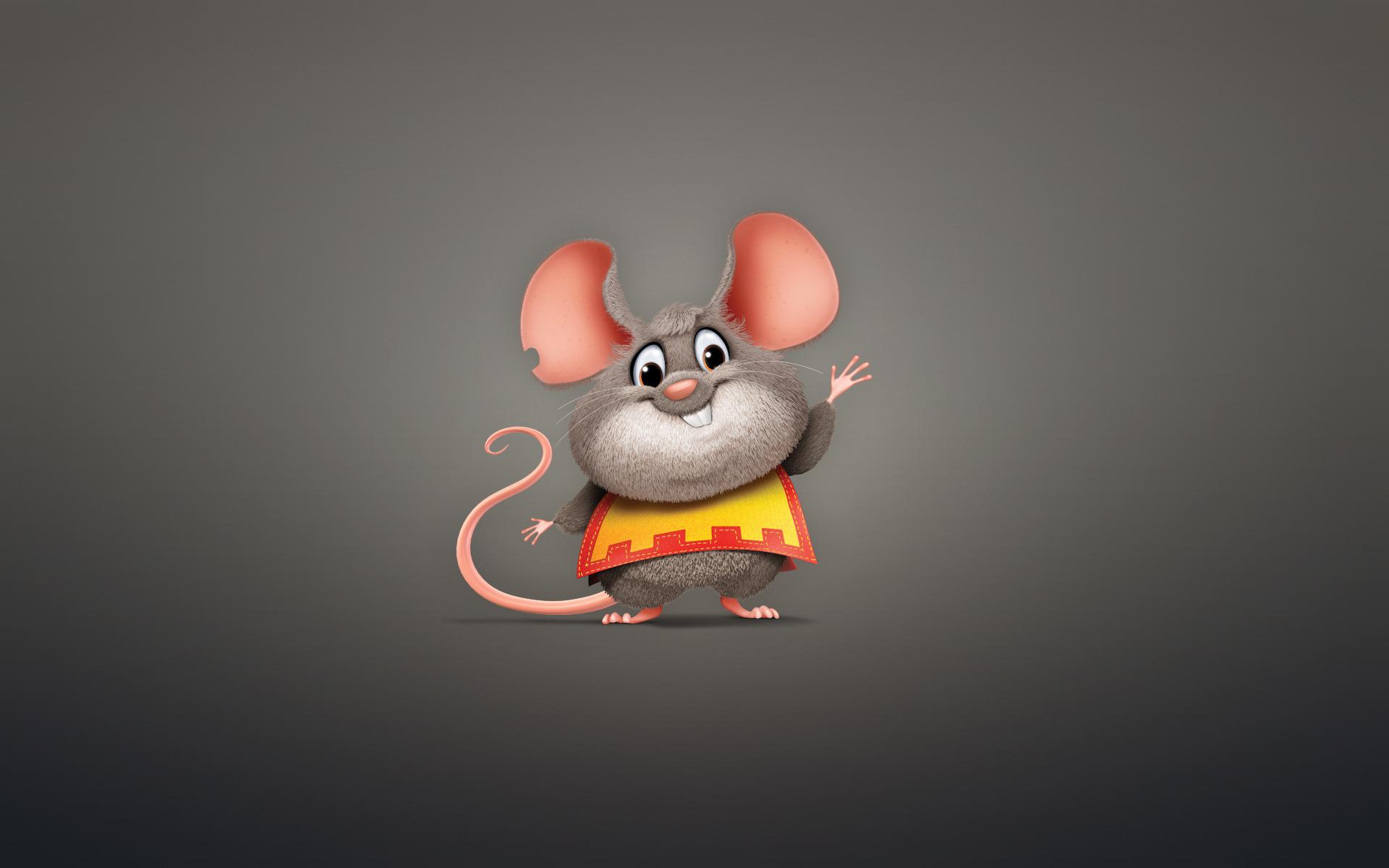 Мышь прикольный рисунок
