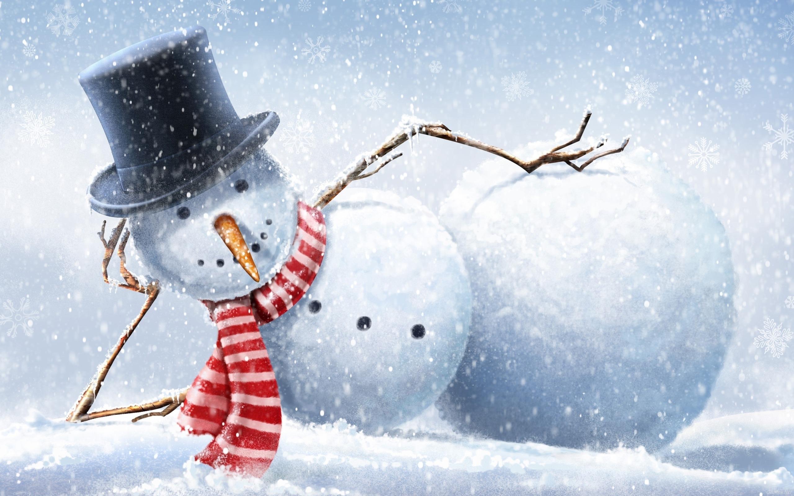 День, картинка с снеговиком