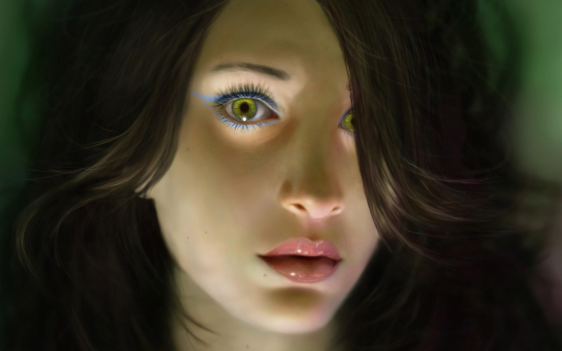 Девушка с 3 глазами фото