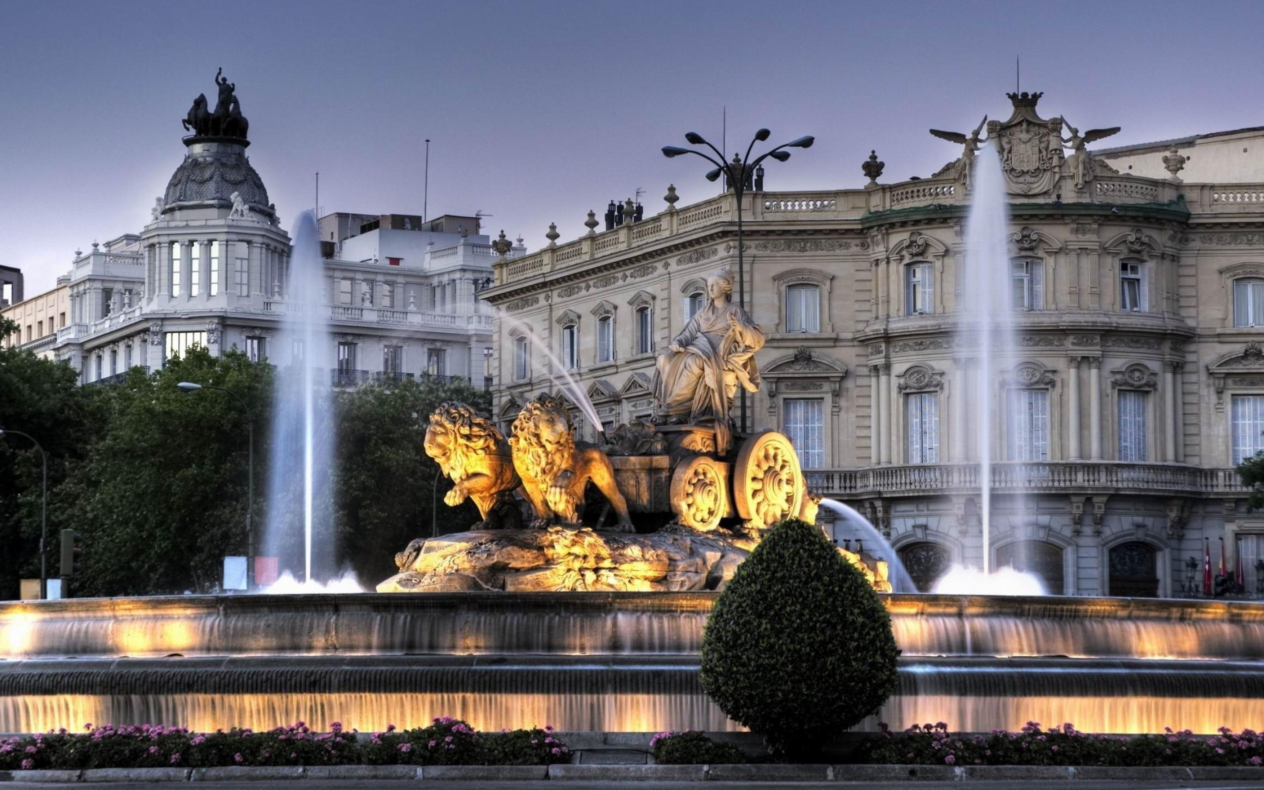 фонтан город сумерки fountain the city twilight бесплатно