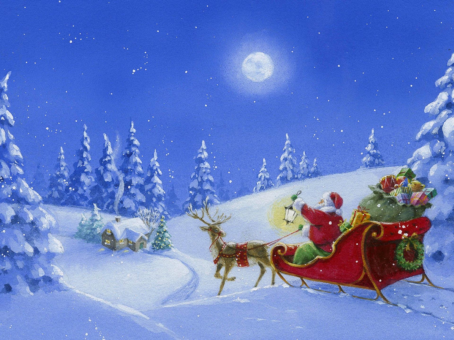 Рисунки, рисованные картинки новогодние