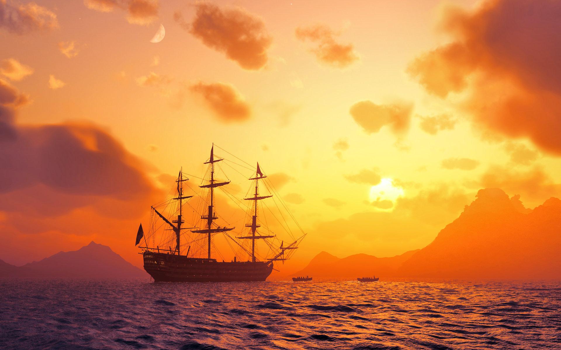 Доброе, картинки корабль и море