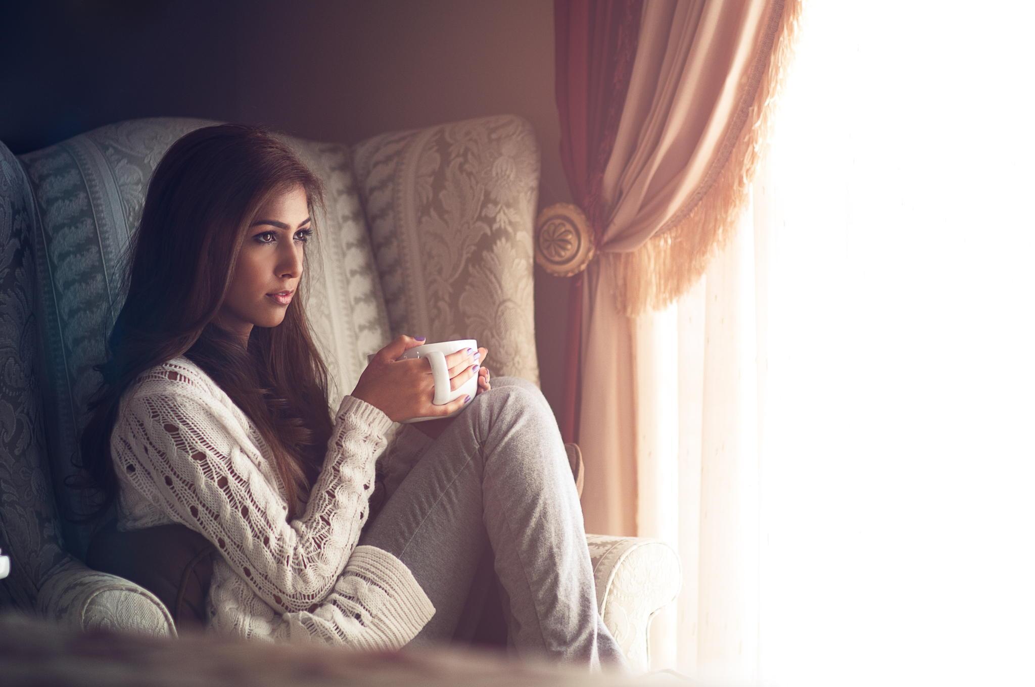 девушка лицо чаепитие girl face the tea party  № 1849837  скачать