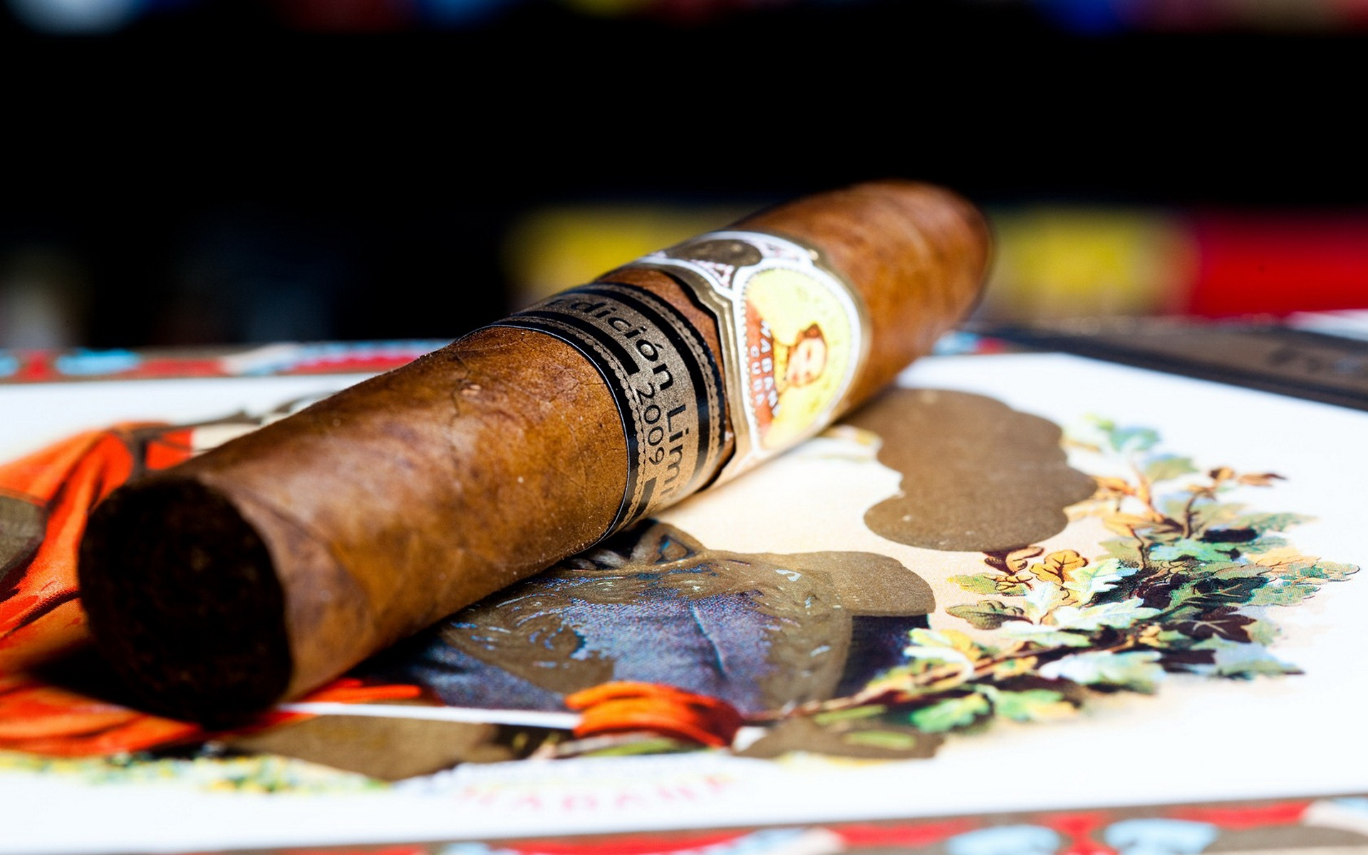Открытка сигары, рождением внука