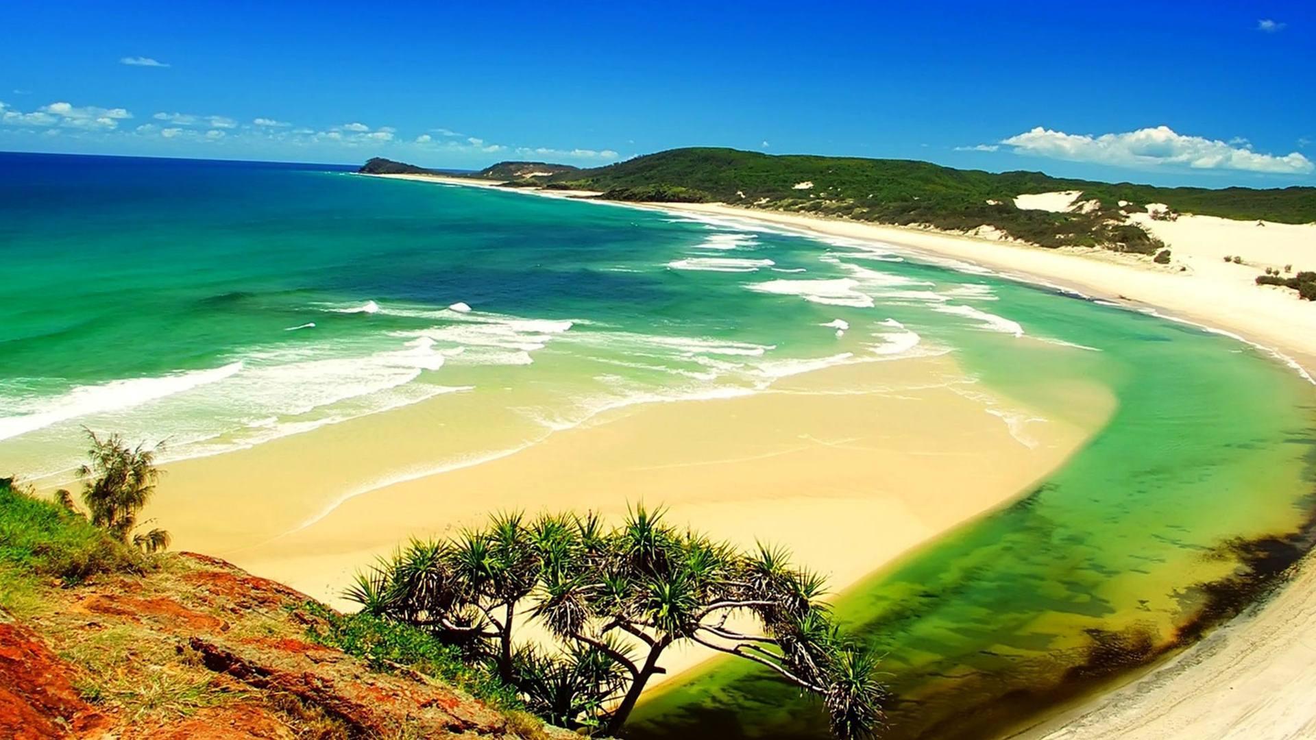 Пляж и залив загрузить