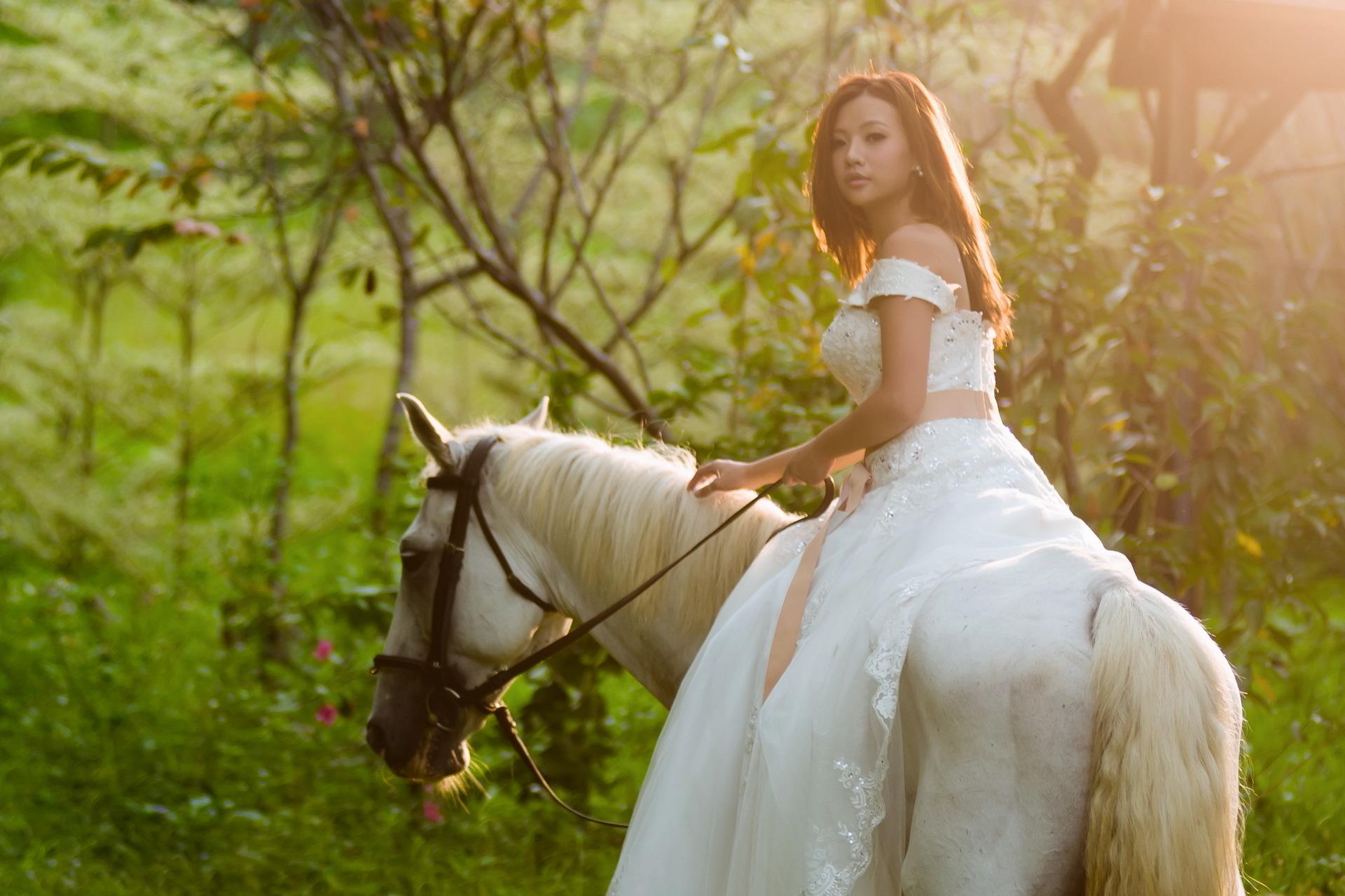 девушка лошади  № 1818968  скачать