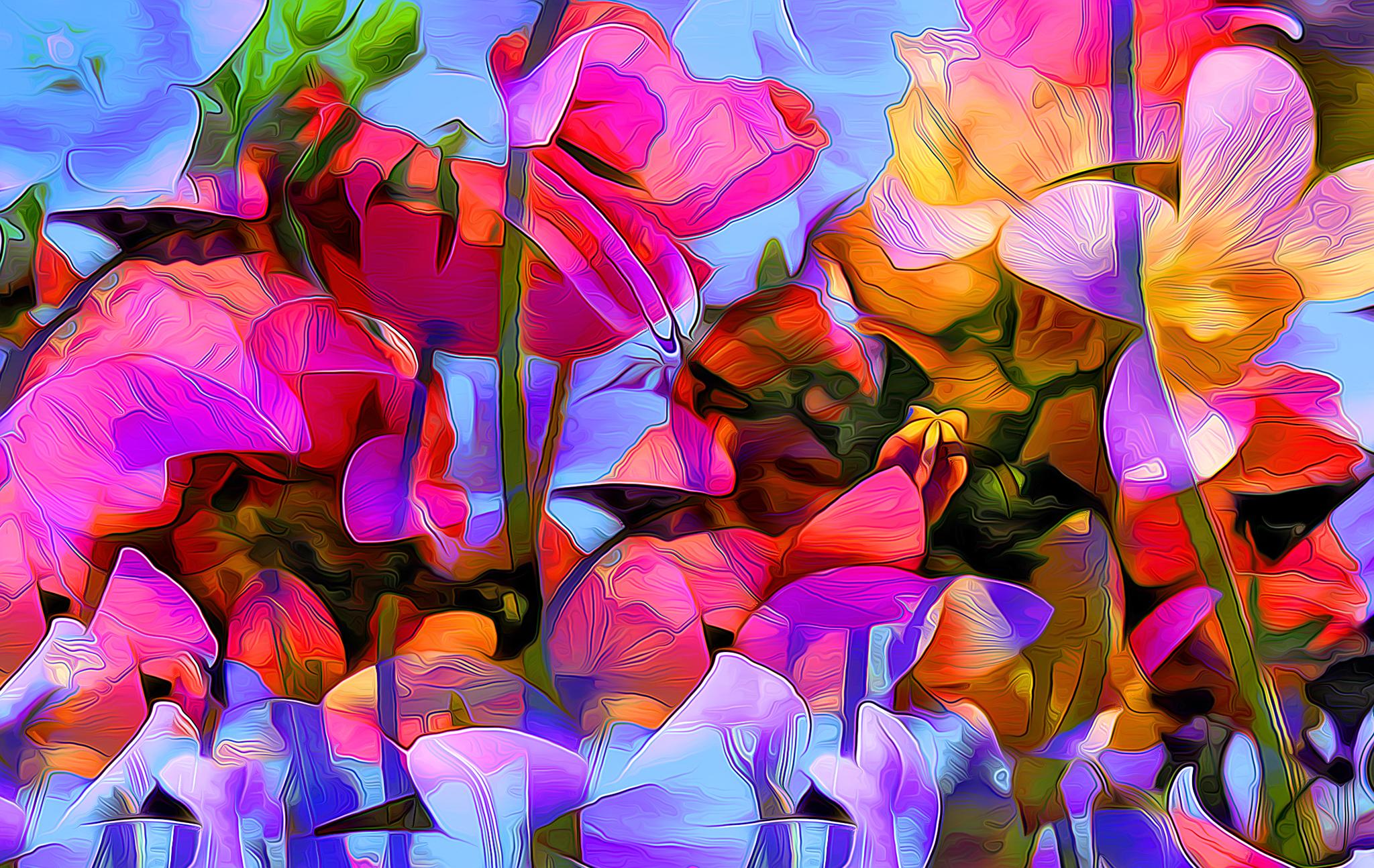 картинки с яркими красками на телефон акне
