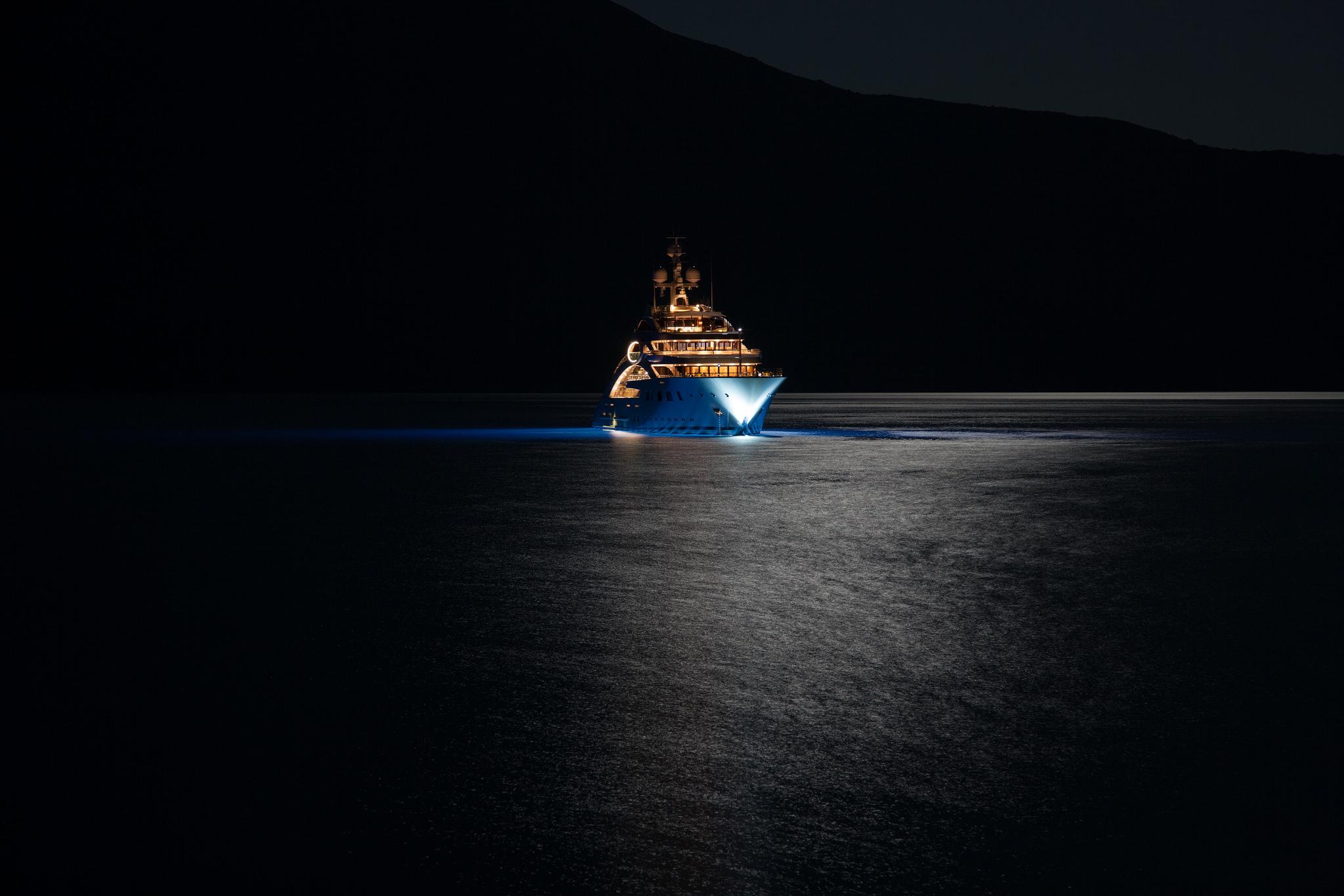 Корабль яхта подсветка скачать