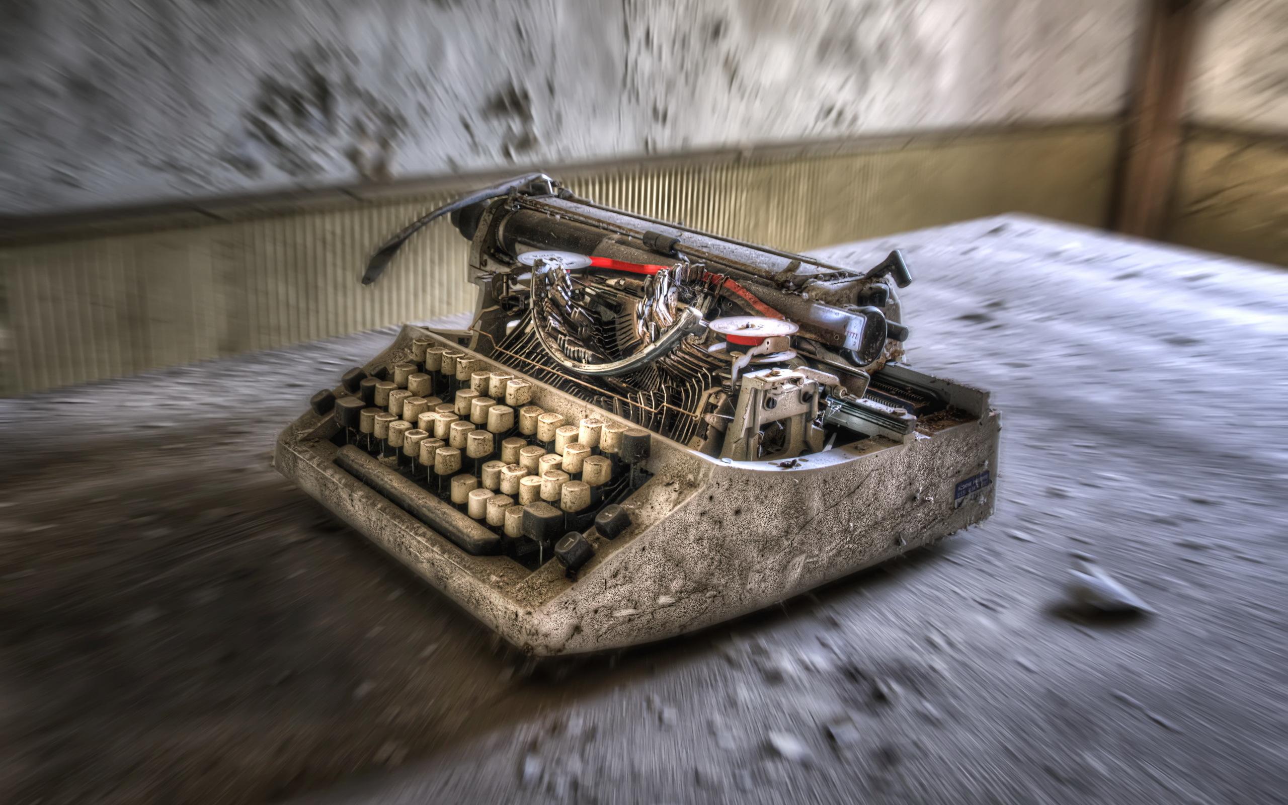 обои для рабочего стола печатная машинка № 1409183 бесплатно
