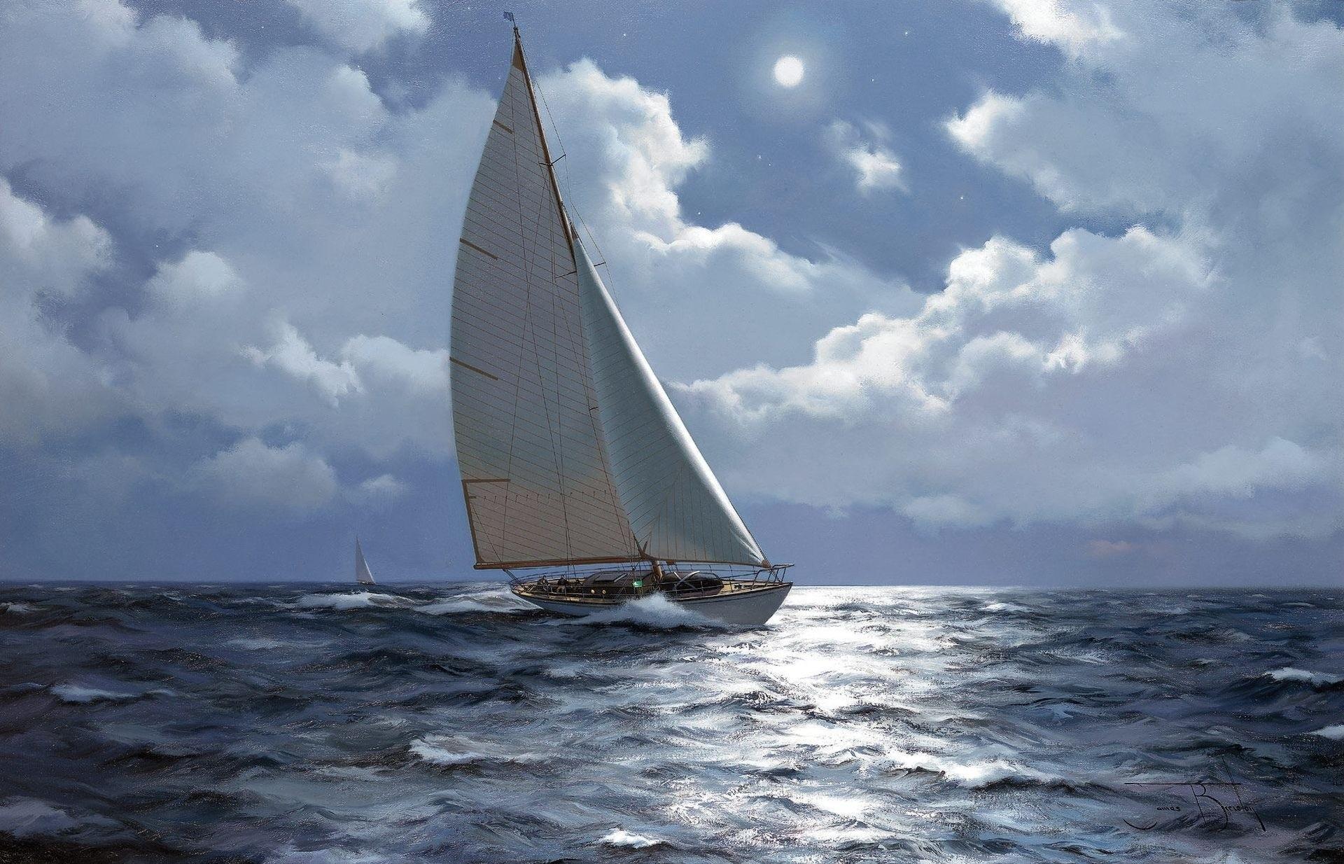 Песня открытка море яхта, дню рождения лет