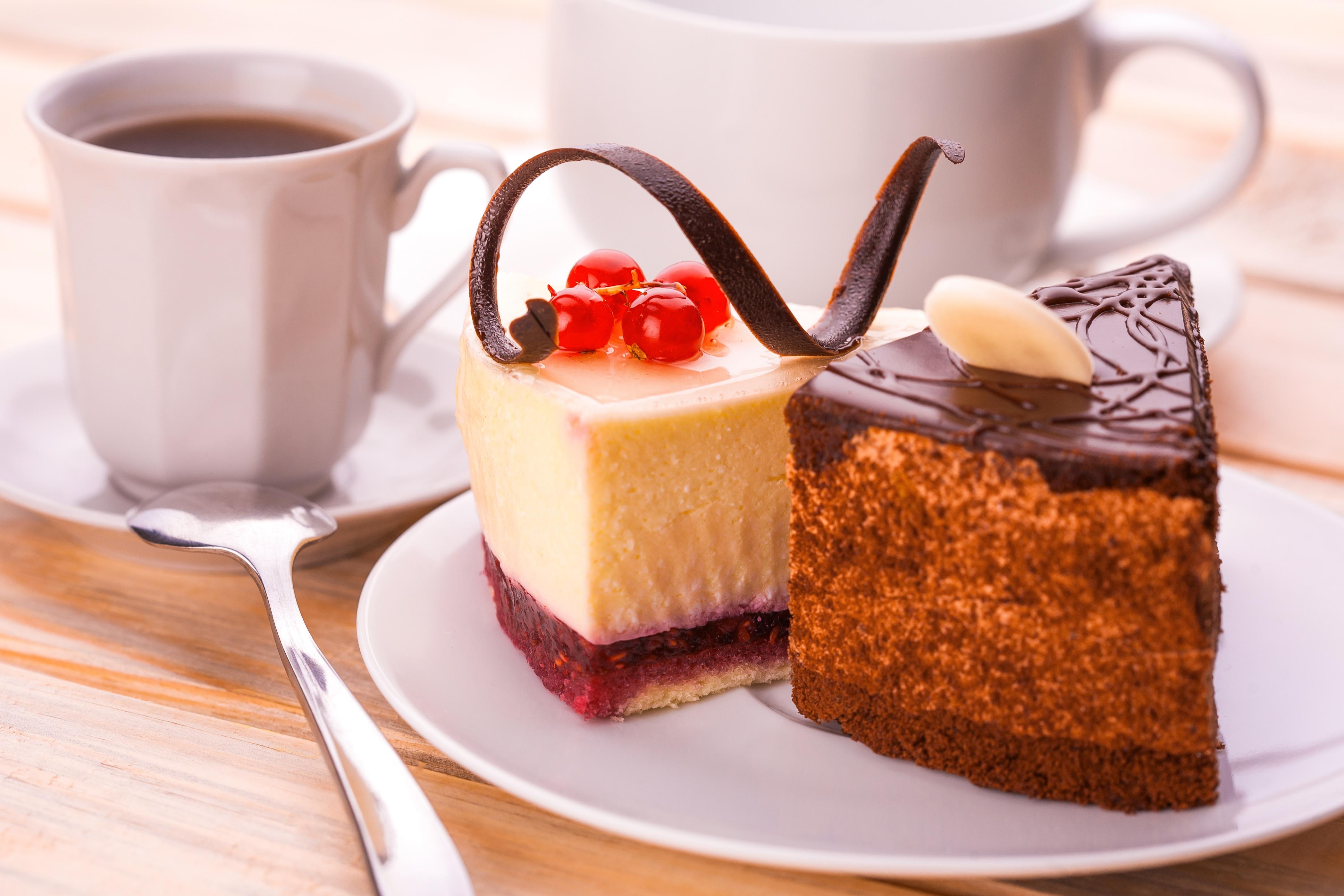 Кофе с пирожными открытки 15