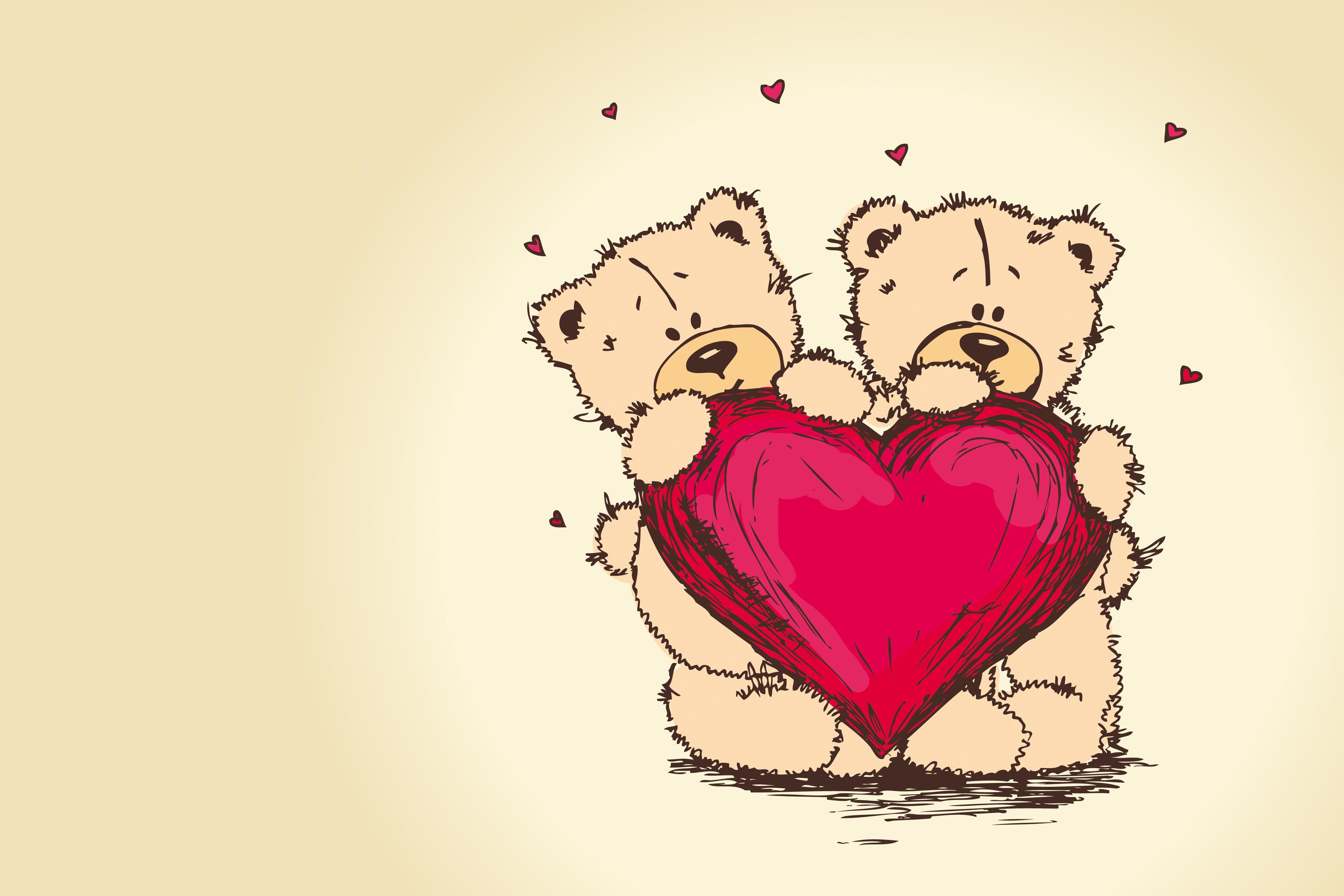Мишка открытка любовь
