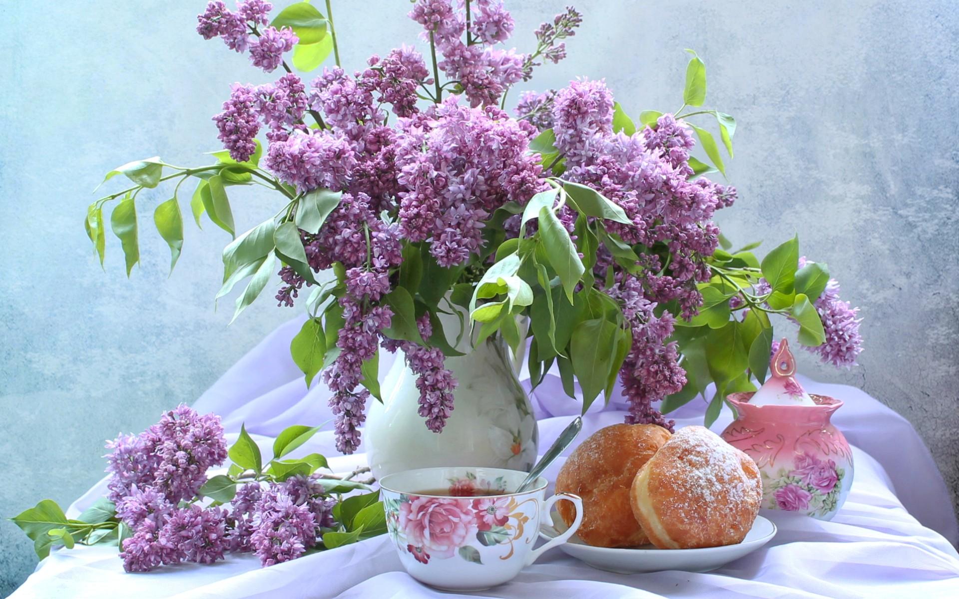 природа цветы сирень сахар блюдо  № 1154253 загрузить