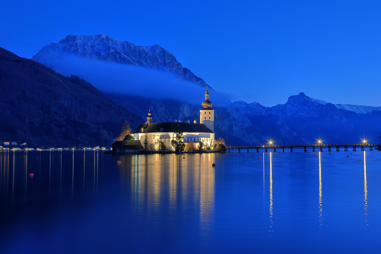 Замок швейцария вечер  № 2569410 без смс