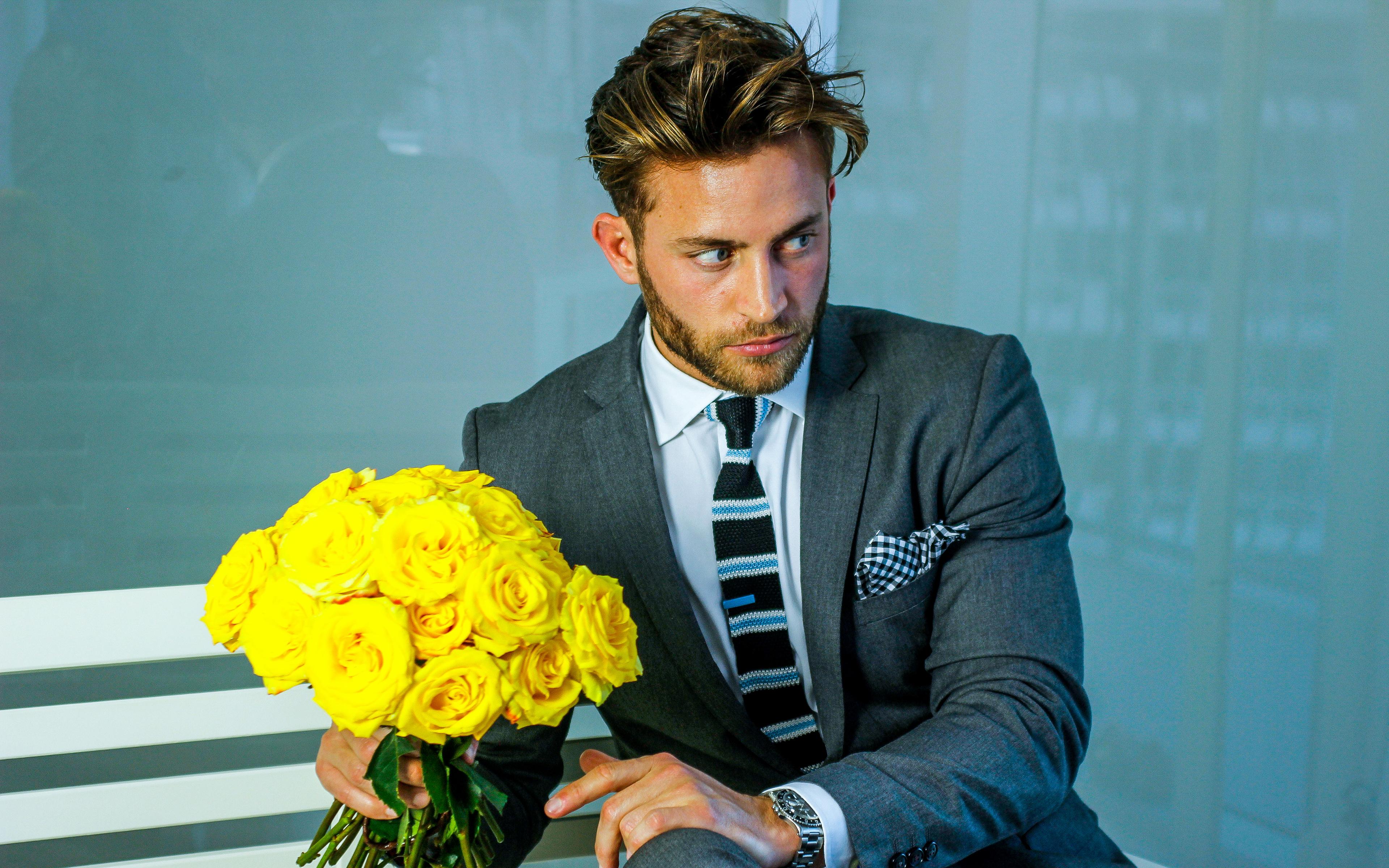 Фото цветов с мужчинами