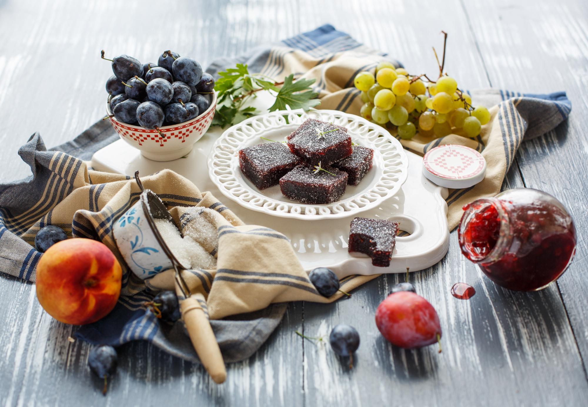 еда чай пирожные виноград  № 378039 загрузить