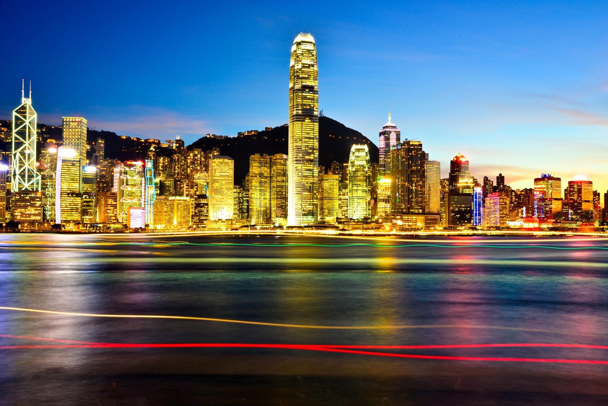 Город ночь огни Азия скачать