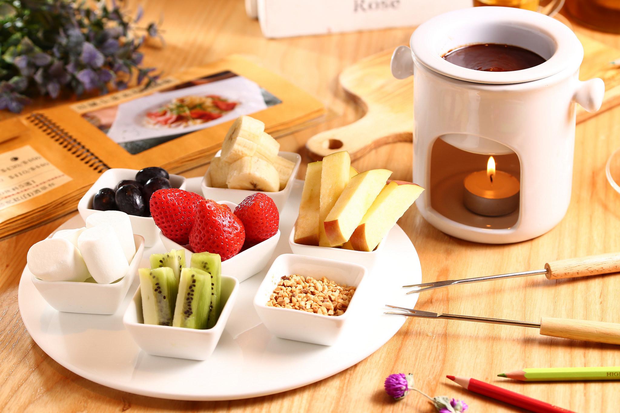Горячий шоколад с фруктами без смс
