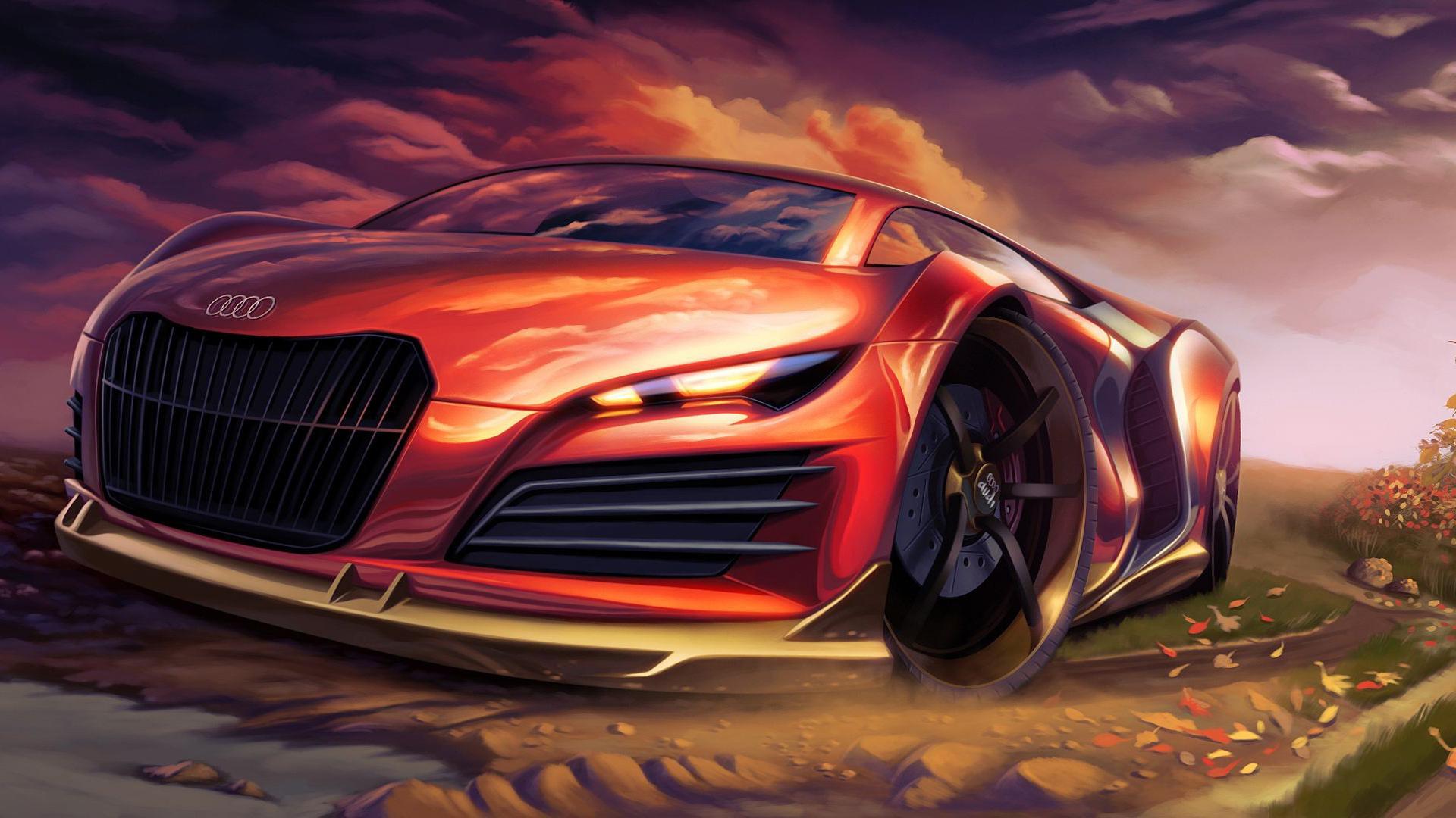 автомобиль красный спортивный бесплатно