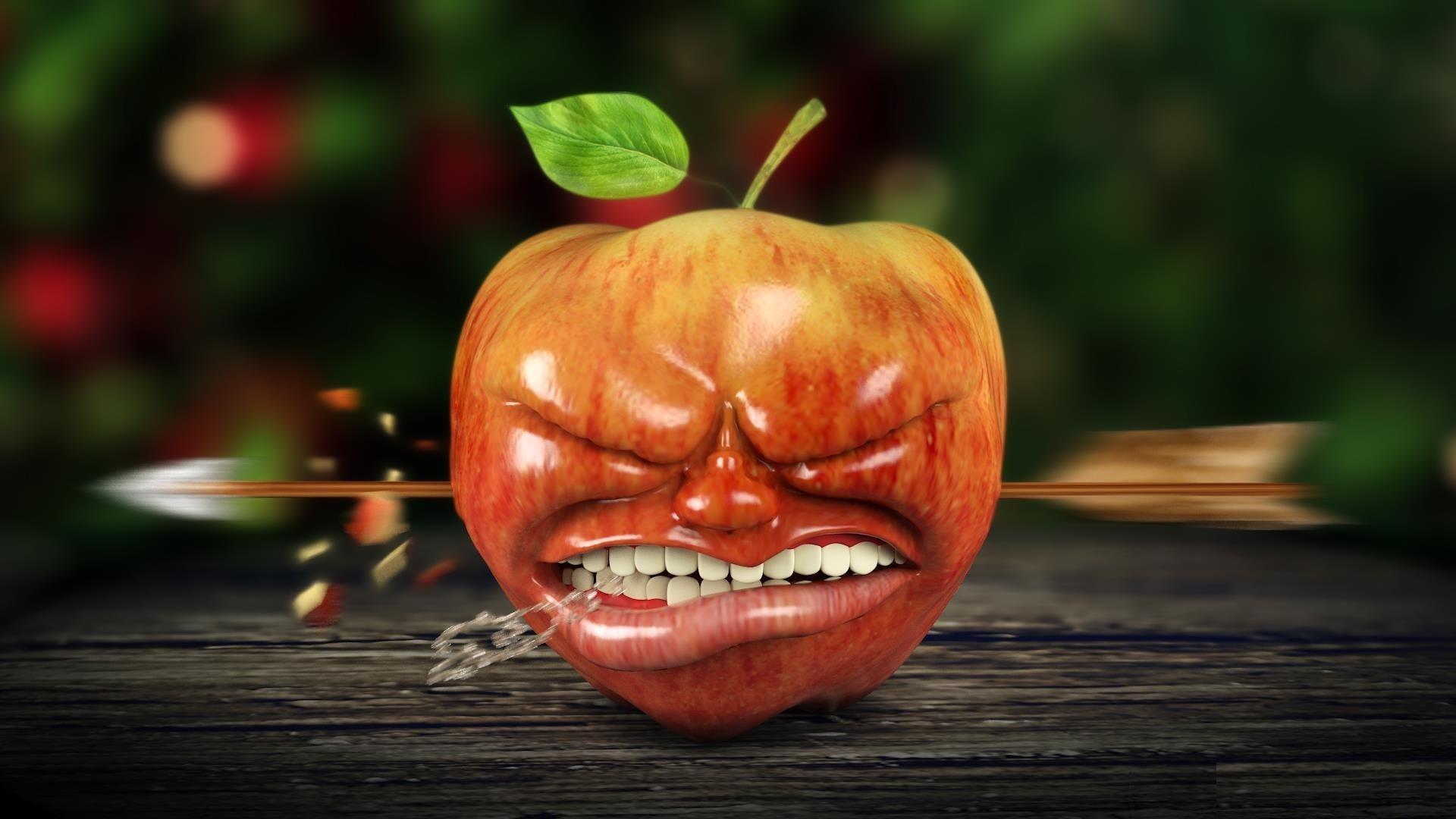 Прикольных, картинки с яблоками прикольные