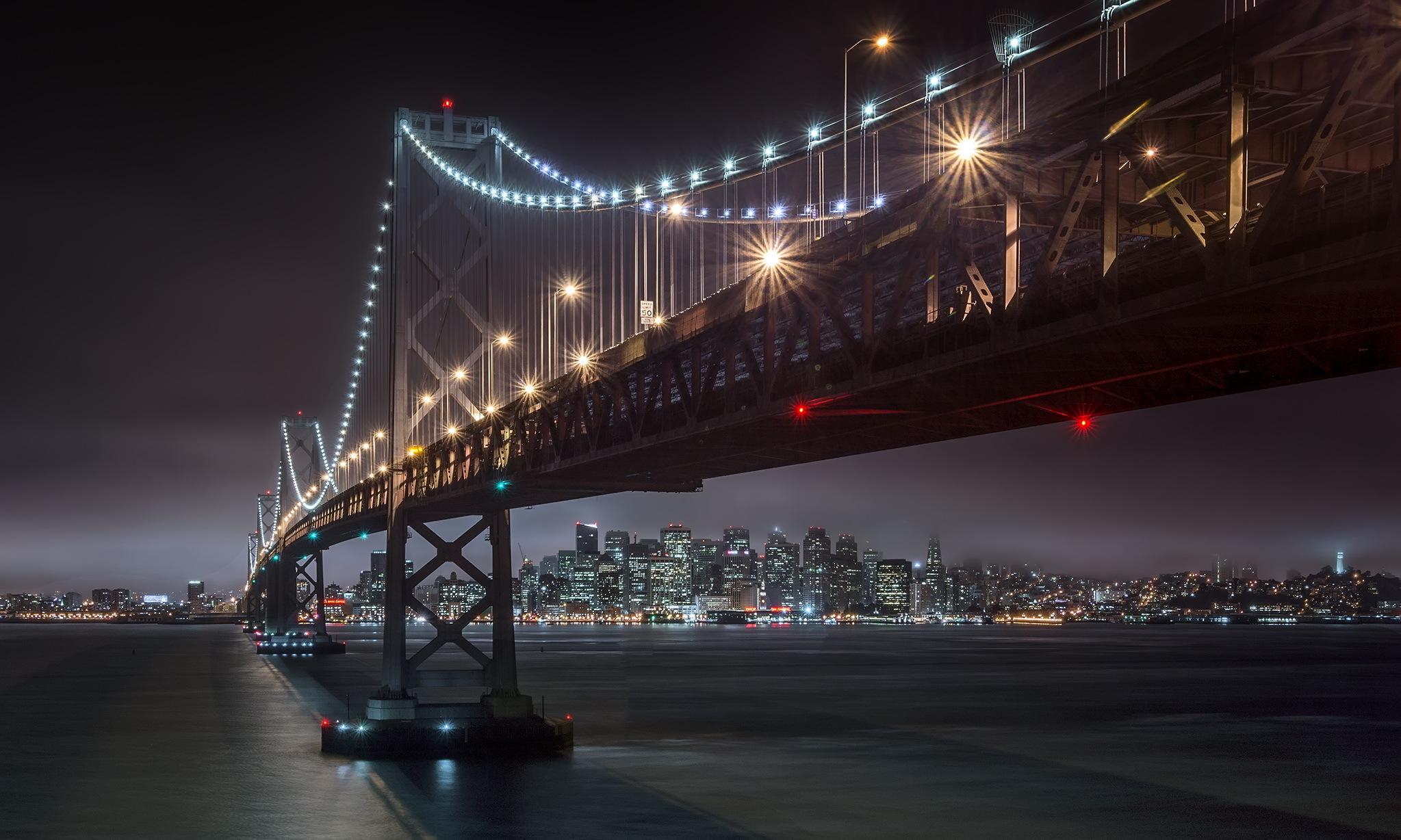 мост огни город залив загрузить