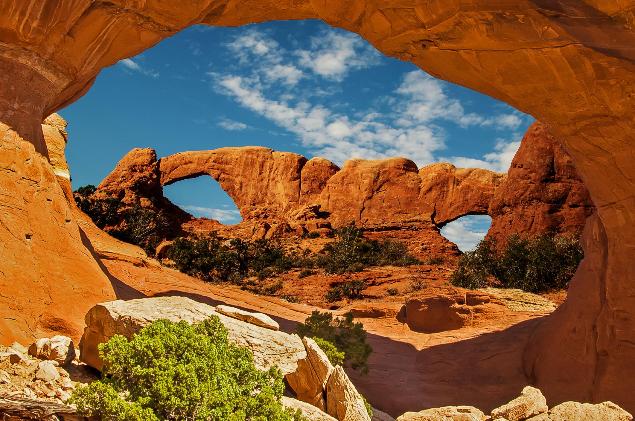 скалы арка небо бесплатно
