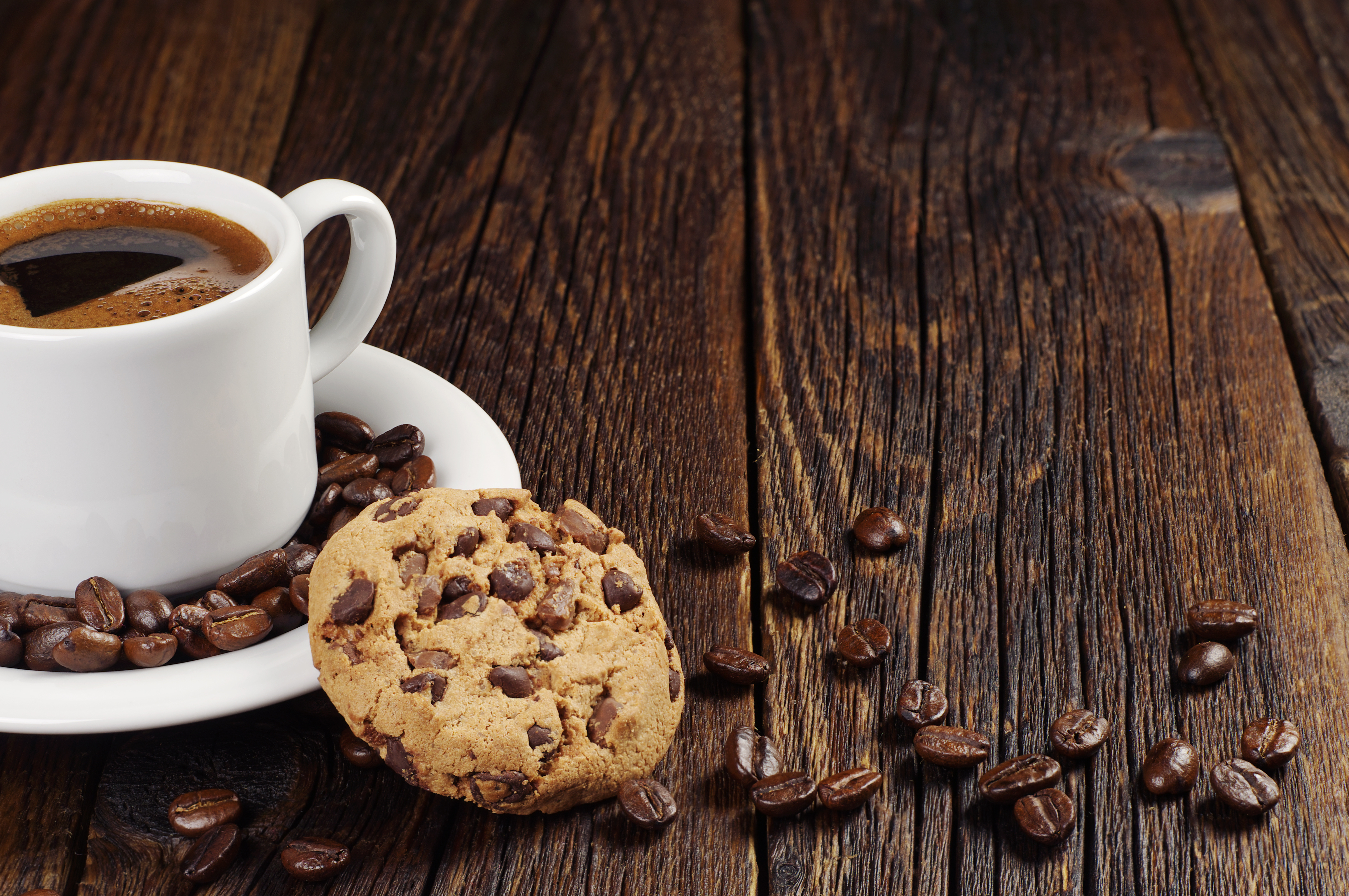 мощный, картинки кофе в кружке и печеньки что