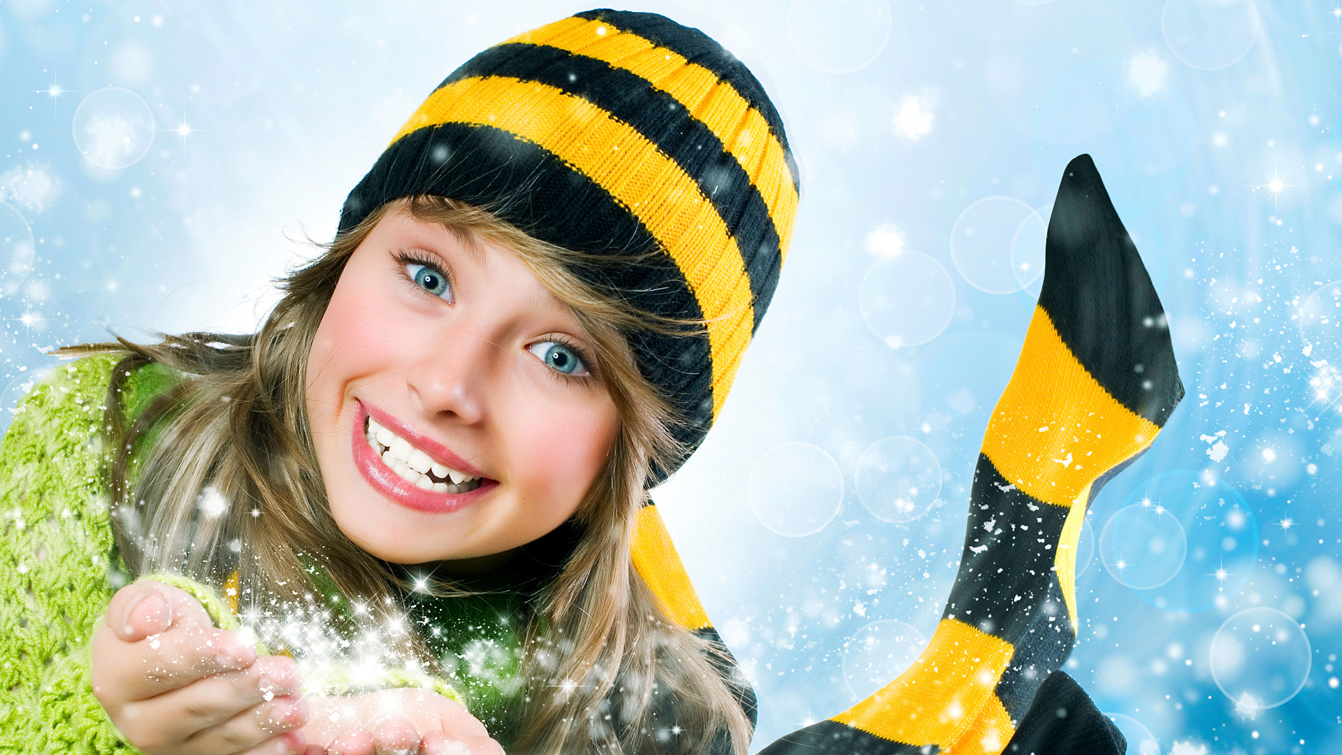 девушка Beeline зима блондинка girl winter blonde скачать