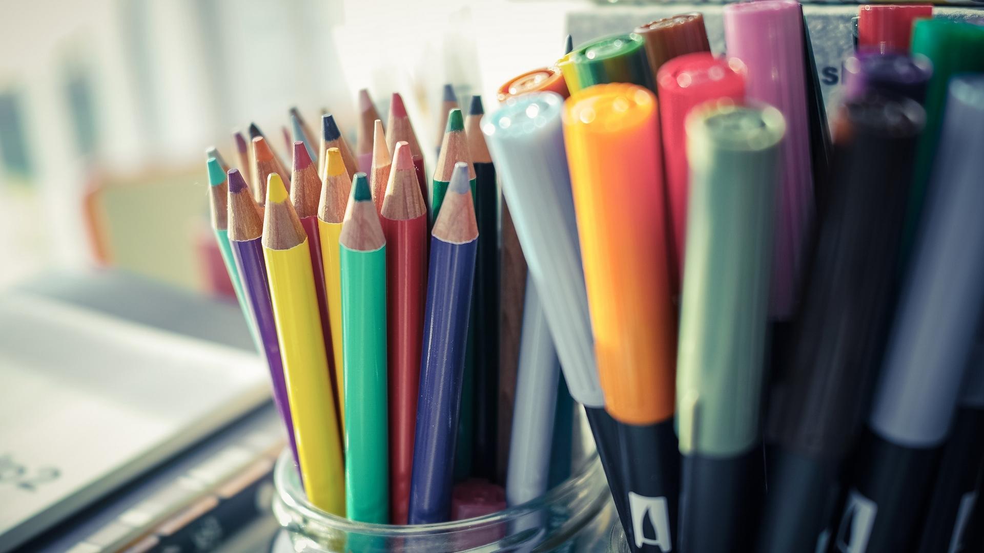 Обои markers, цветные, фломастеры, Color. Разное foto 10