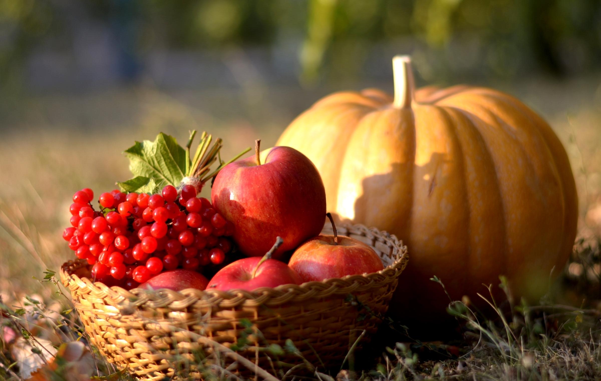 Картинки осень и яблоки