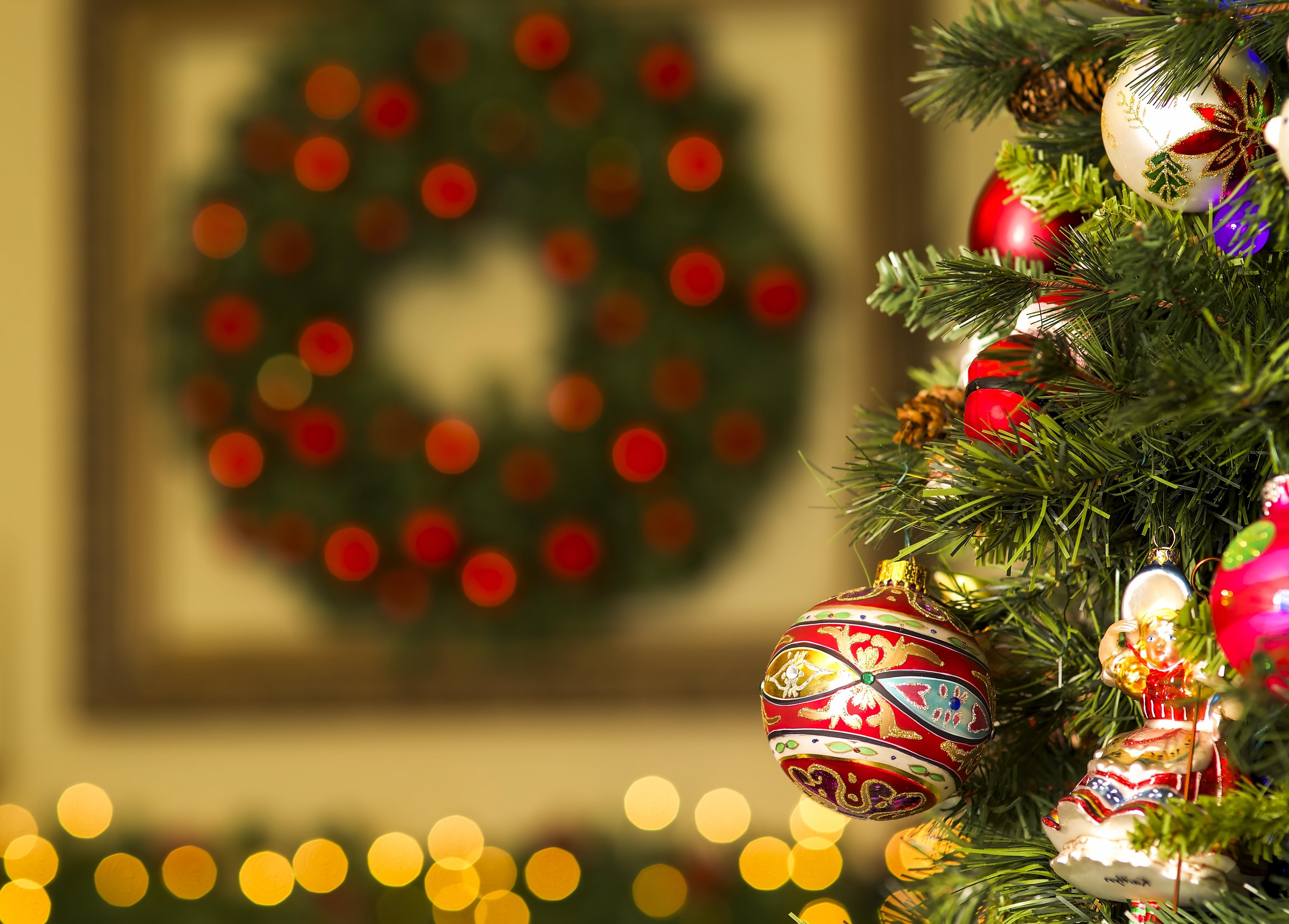 елка,шары,огоньки  № 340857 бесплатно