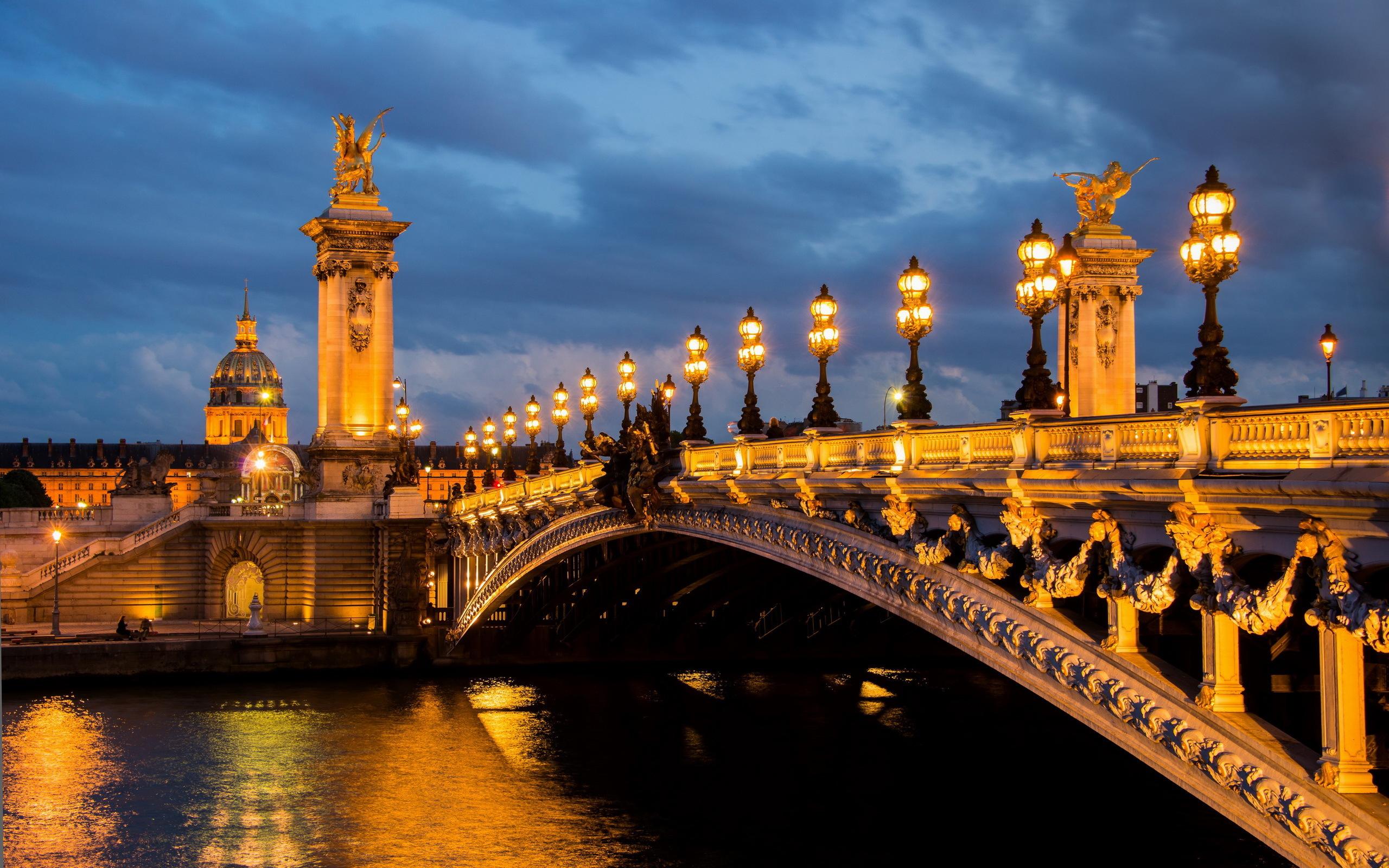 Париж сумерки ночь город вечер  № 2227471  скачать