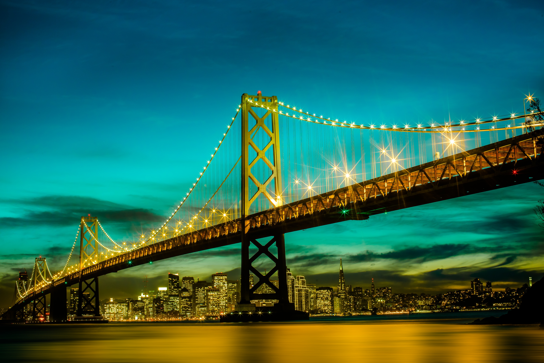 страны архитектура вечер США Сан-Франциско country architecture evening USA San Francisco CA без смс