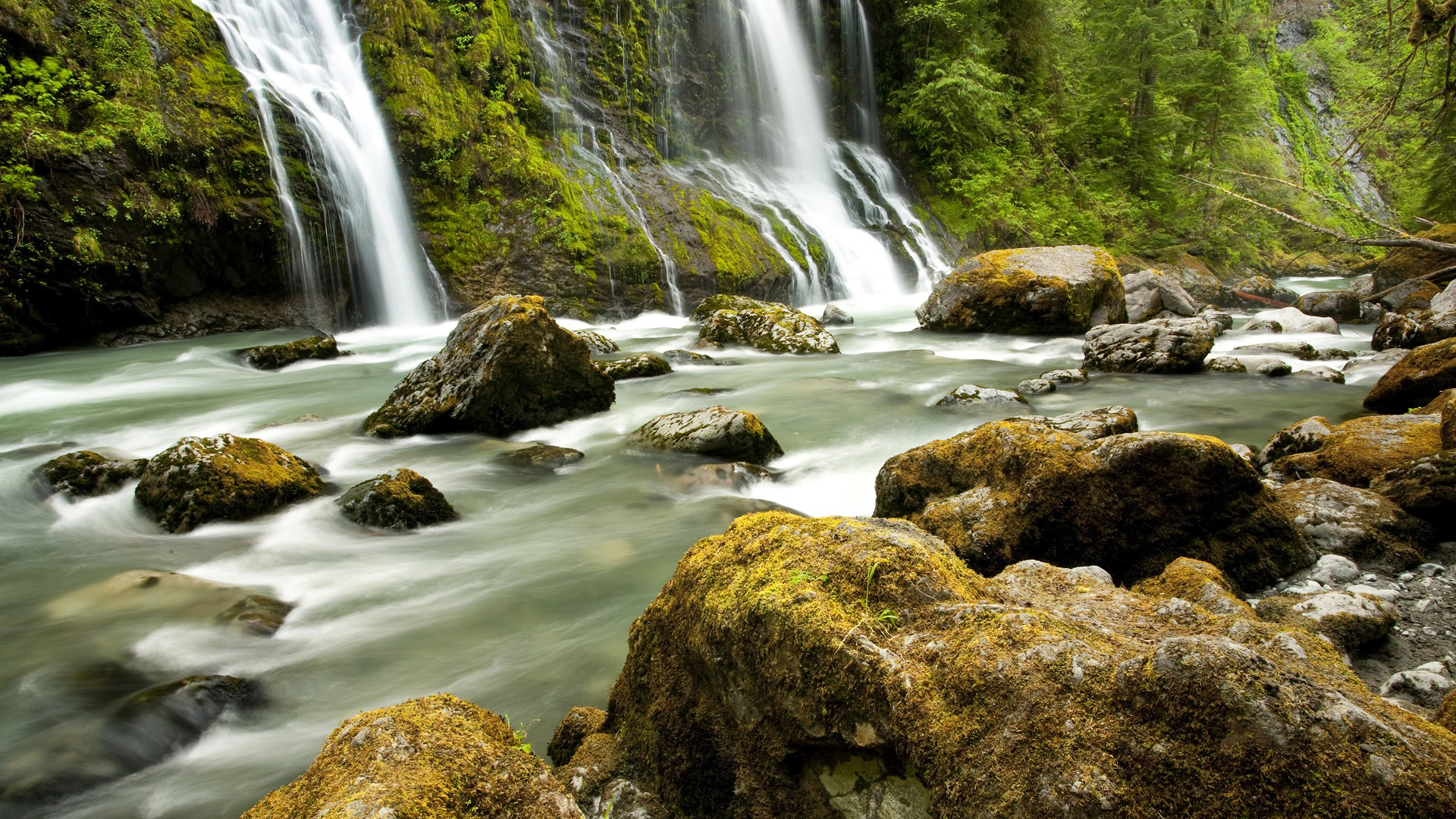водопад река камни бесплатно
