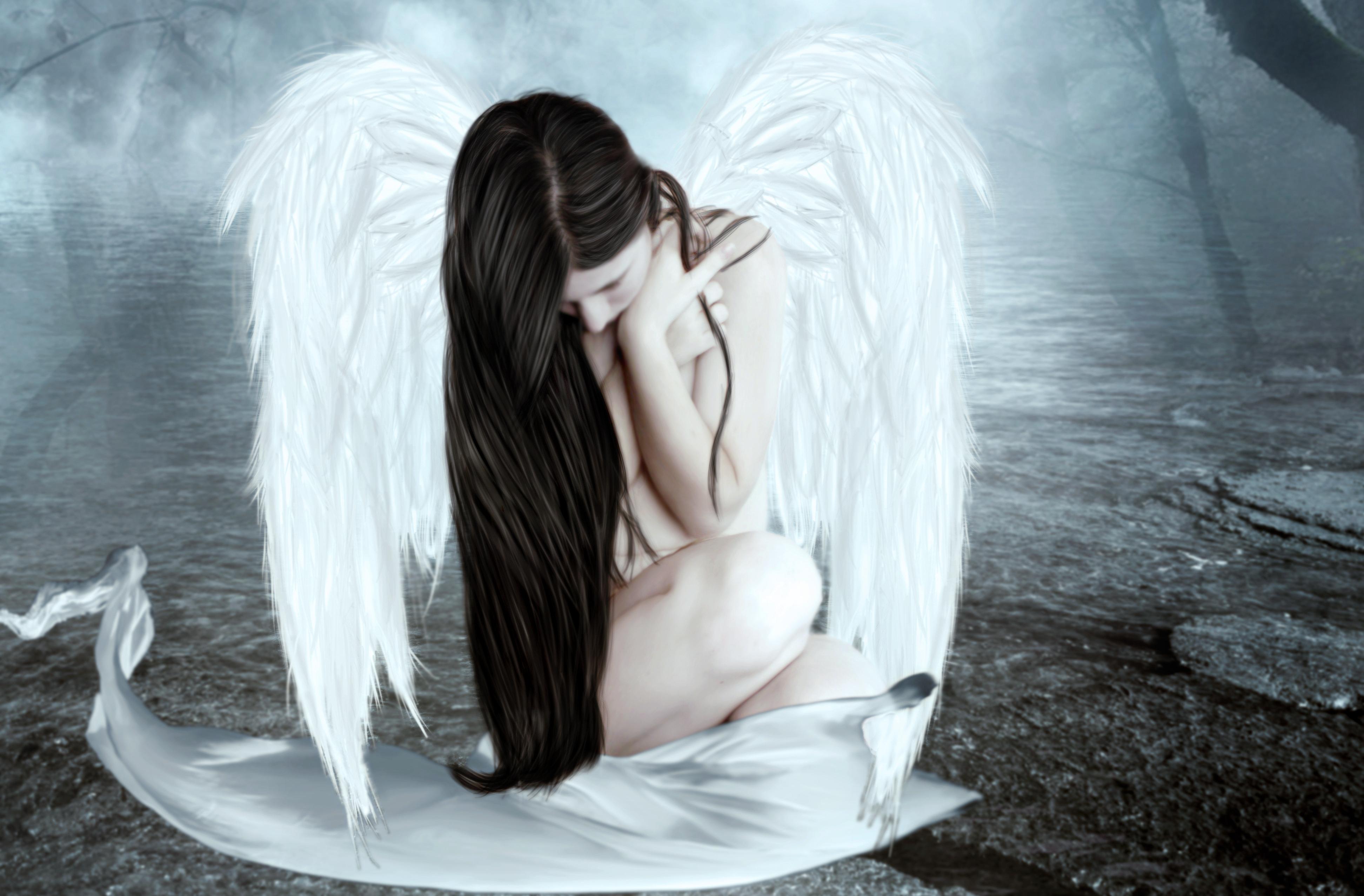Цветов гофрированной, картинки грустных ангелов