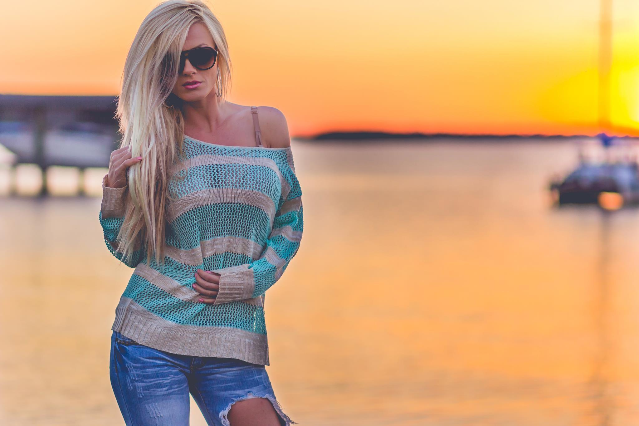 Фото блондинок на аву летом