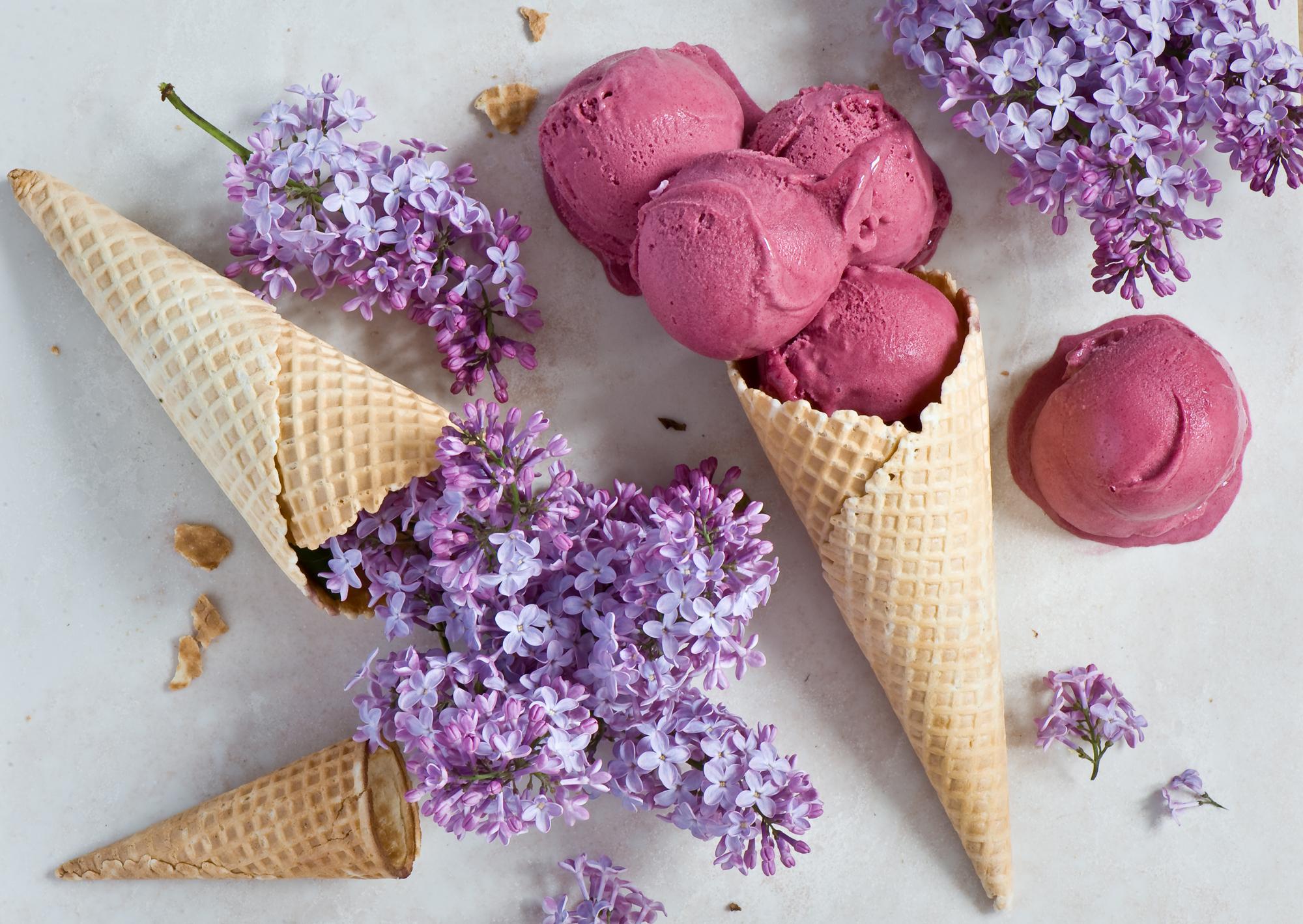 природа цветы сирень сахар блюдо  № 1154263 бесплатно