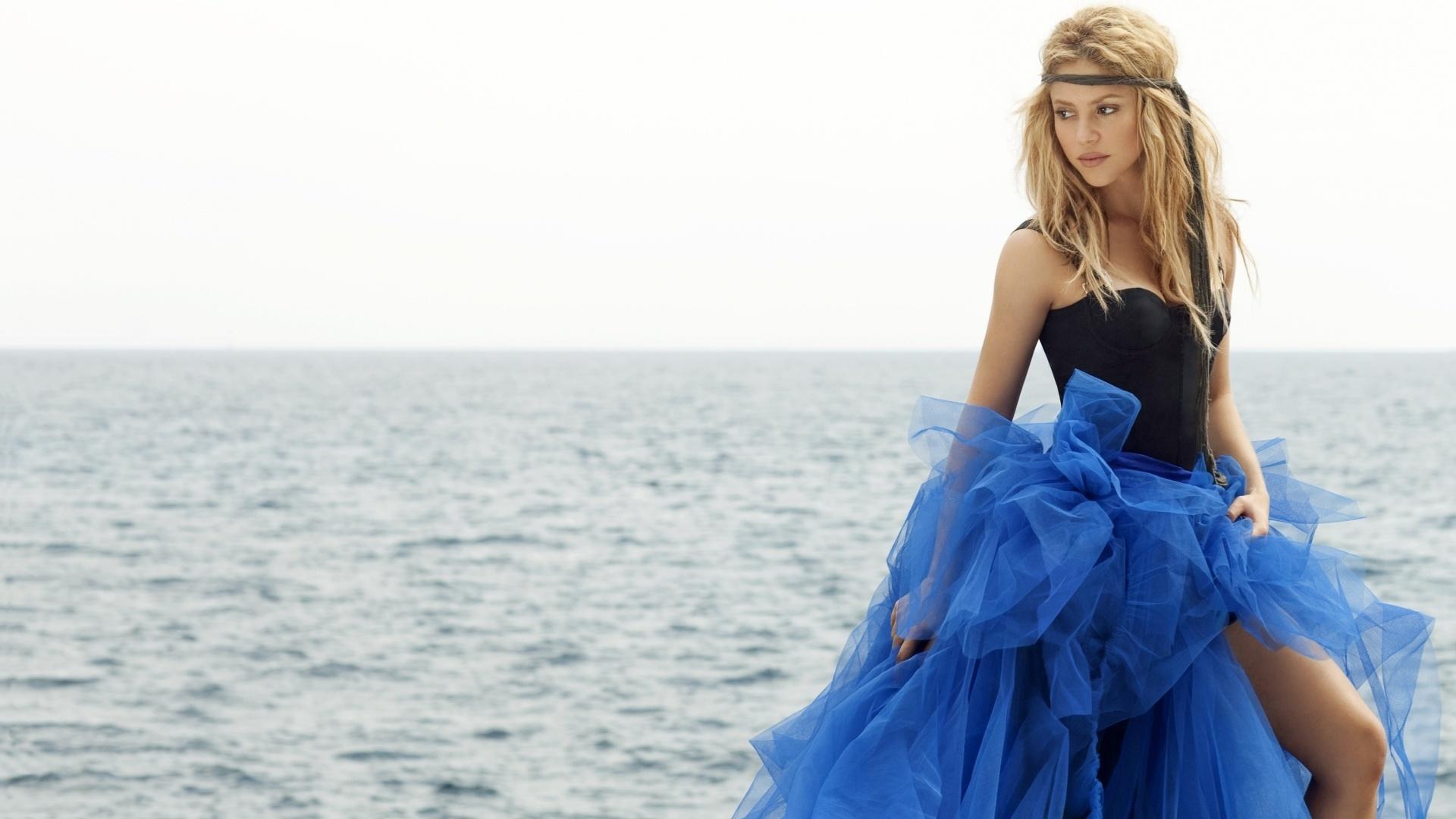 девушки море природа платье смотреть