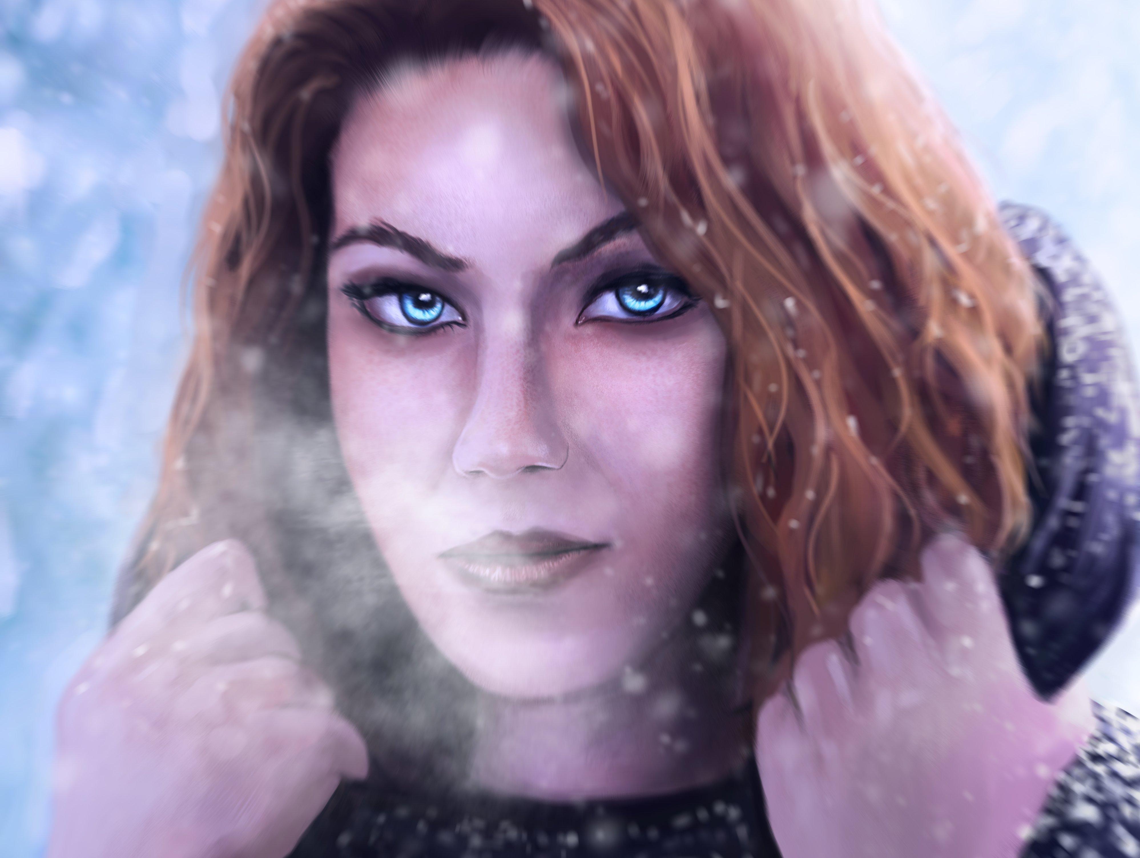 девушка снег капюшон лицо без смс