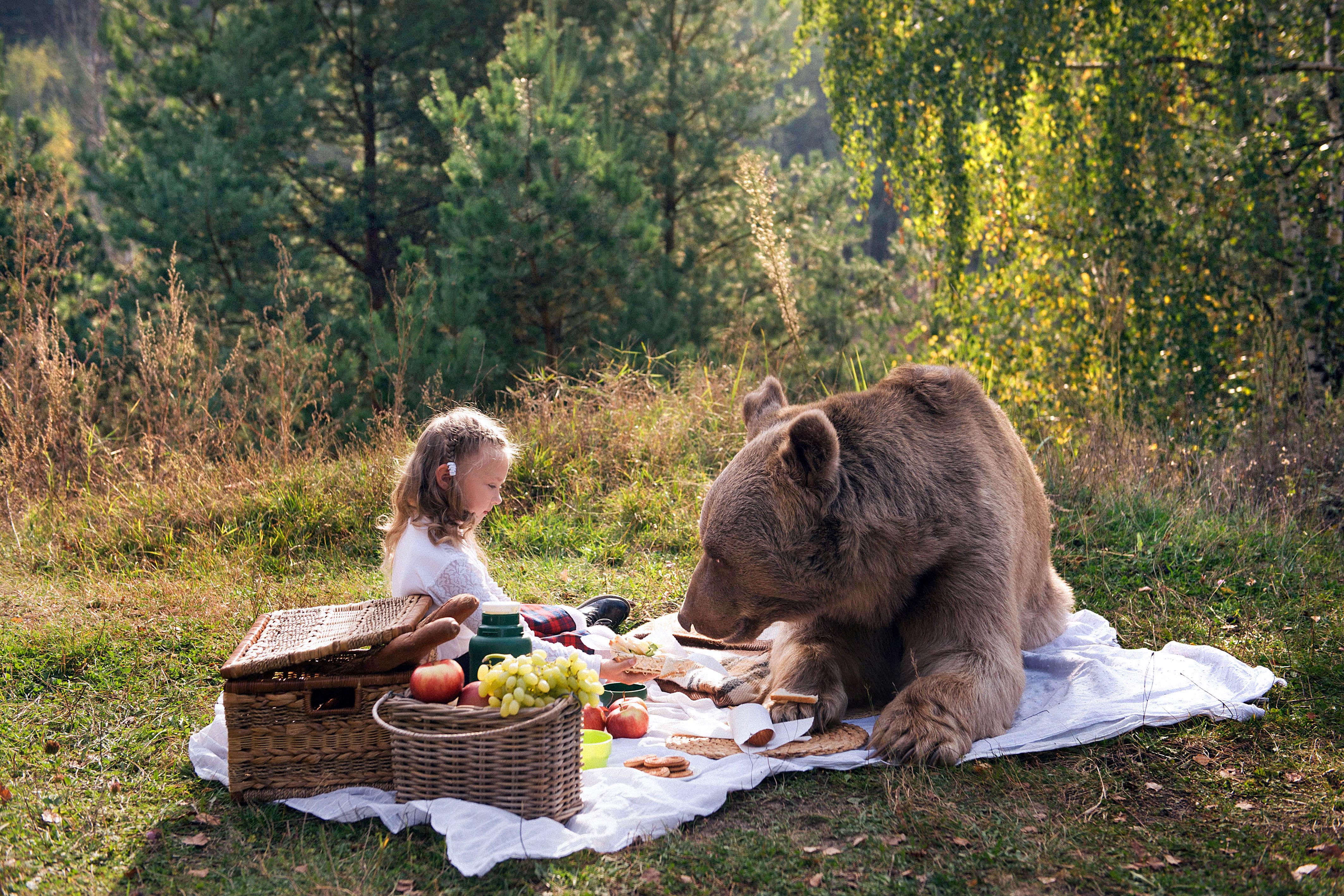 Картинки медведь и дети
