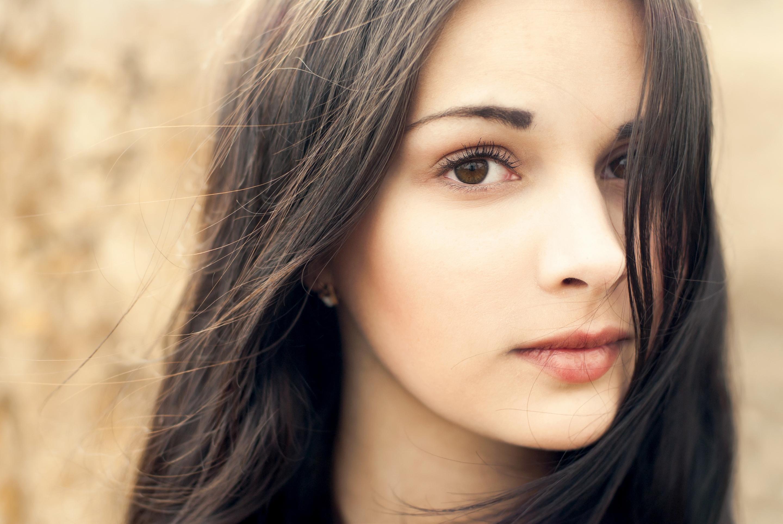 Фото лиц красивых девушек брюнеток 6